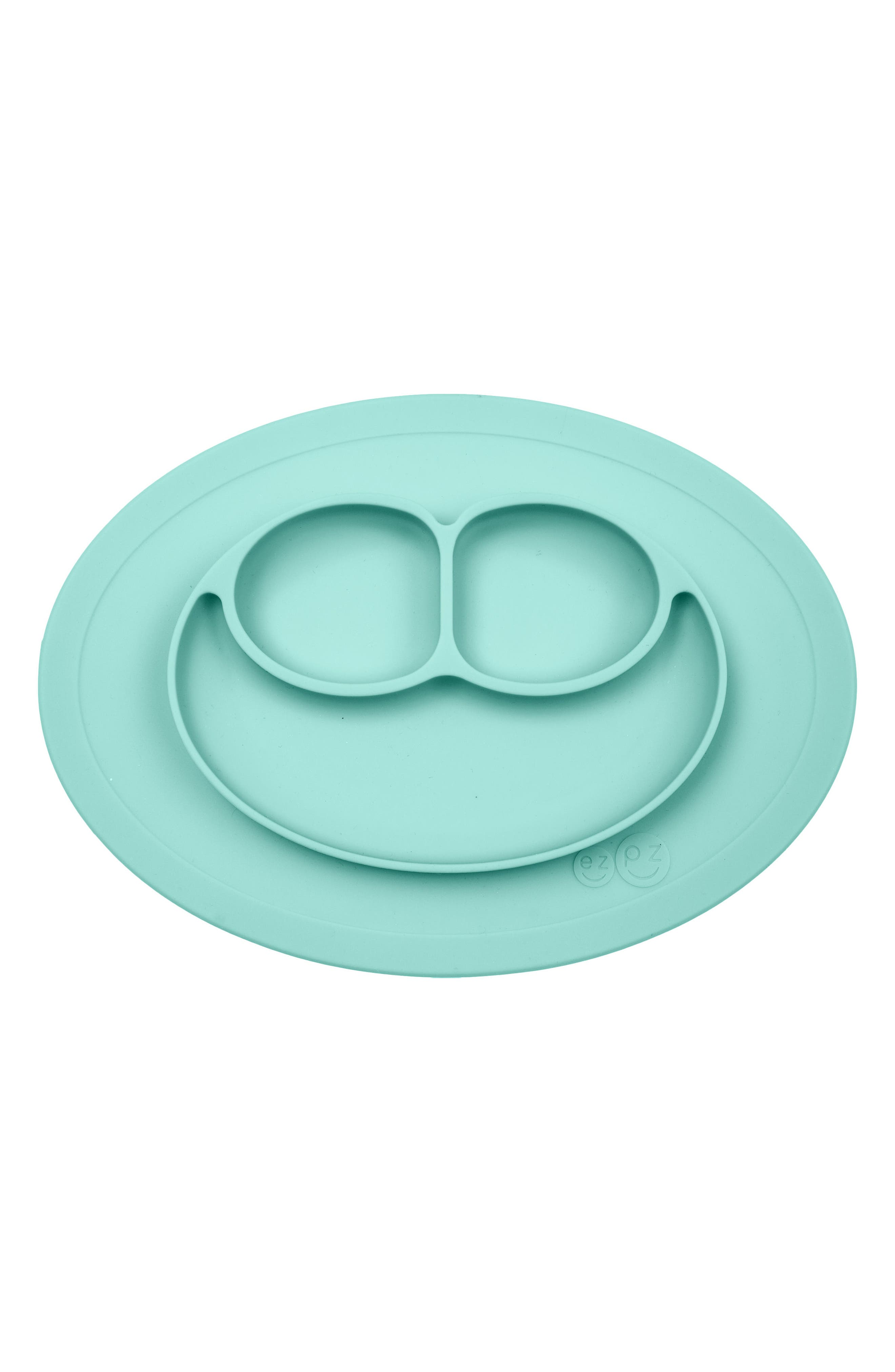 Cookies Bapron & Mini Silicone Feeding Mat,                             Alternate thumbnail 4, color,                             AQUA