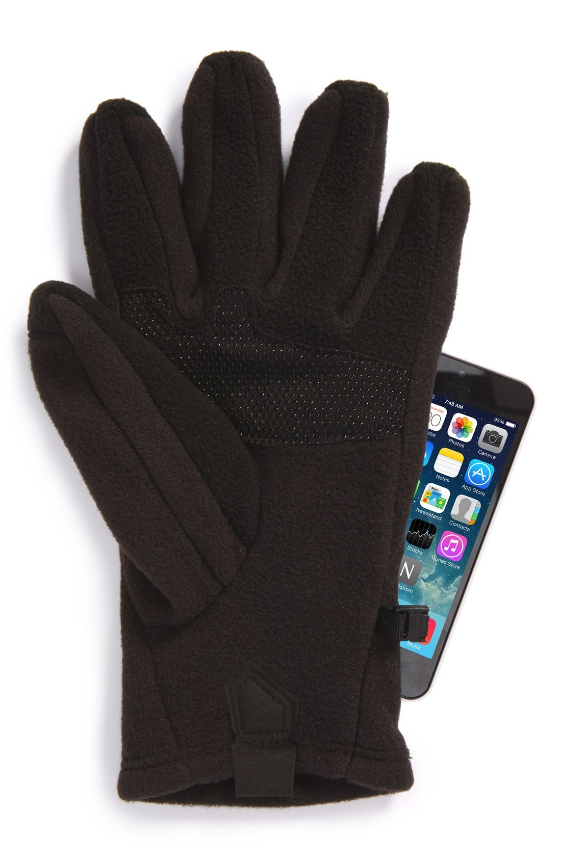 'Denali' E-Tip Gloves,                             Alternate thumbnail 5, color,                             001