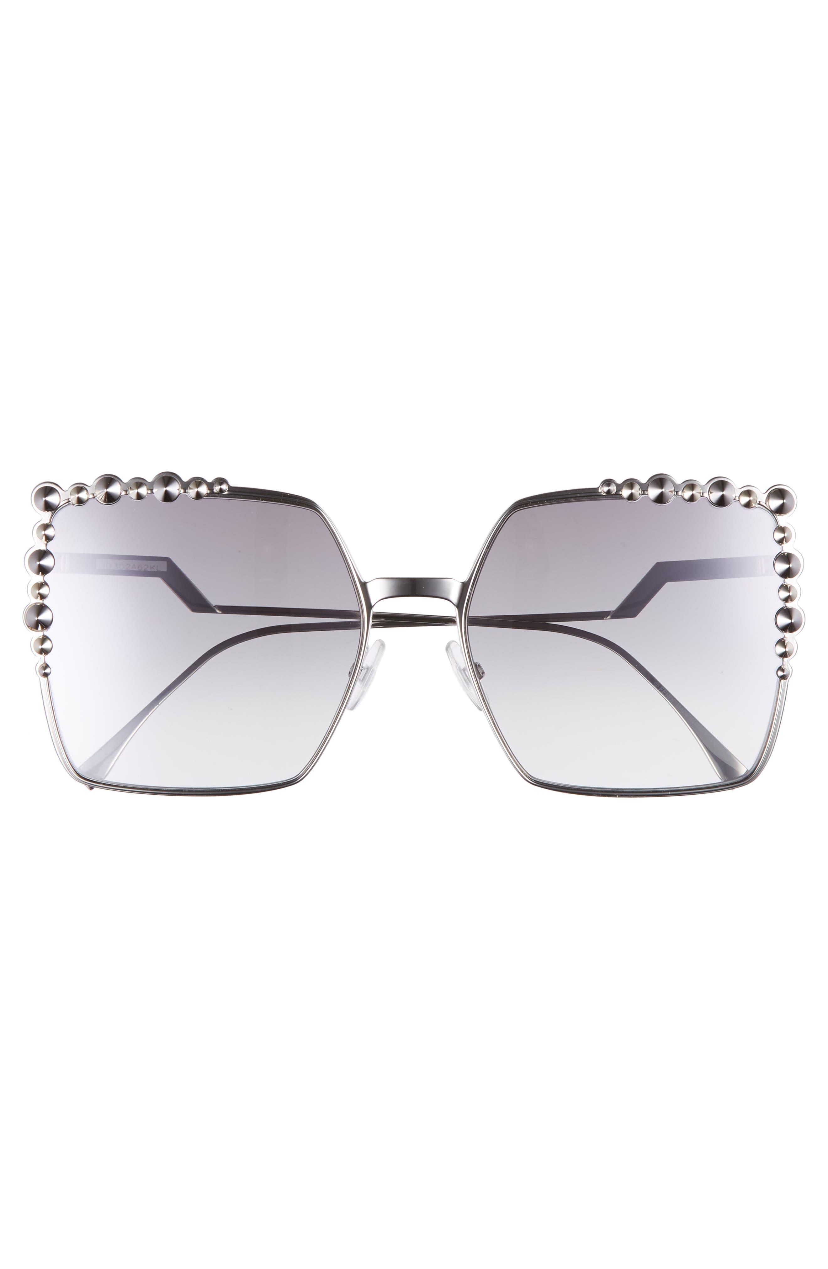 60mm Gradient Square Cat Eye Sunglasses,                             Alternate thumbnail 3, color,                             043