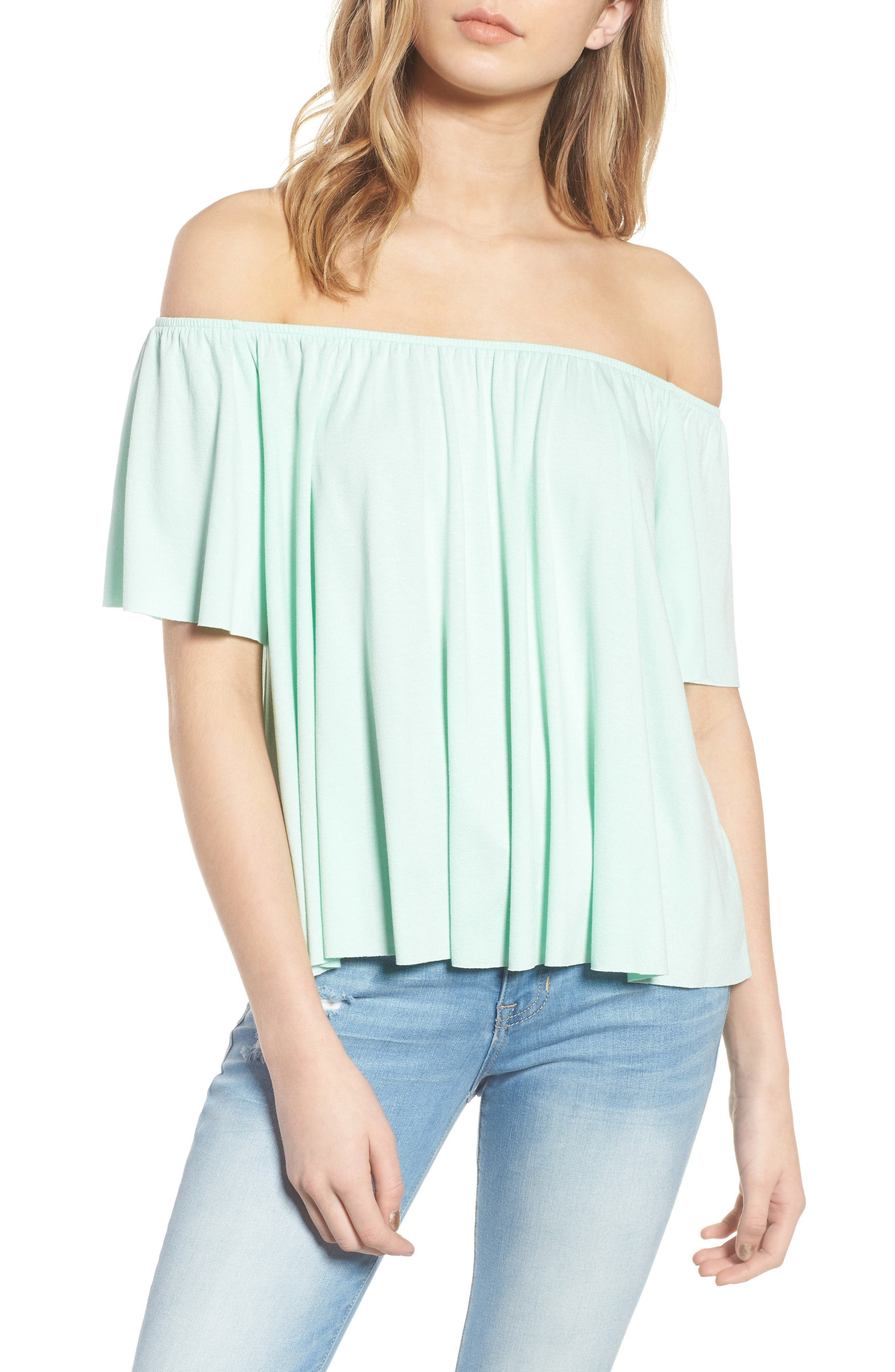 Off the Shoulder Top,                             Main thumbnail 2, color,