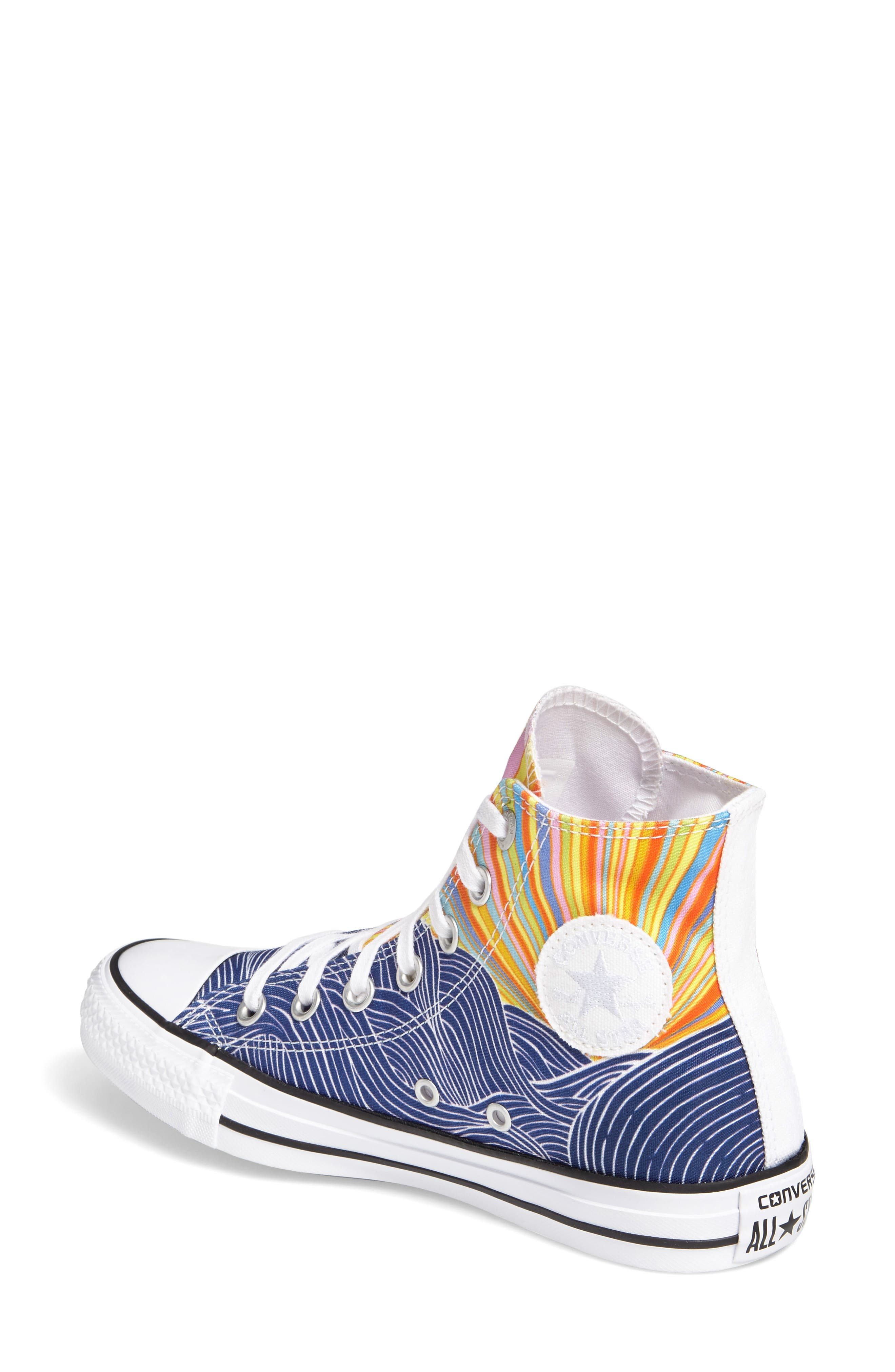 x Mara Hoffman All Star<sup>®</sup> Embroidered High Top Sneaker,                             Alternate thumbnail 3, color,