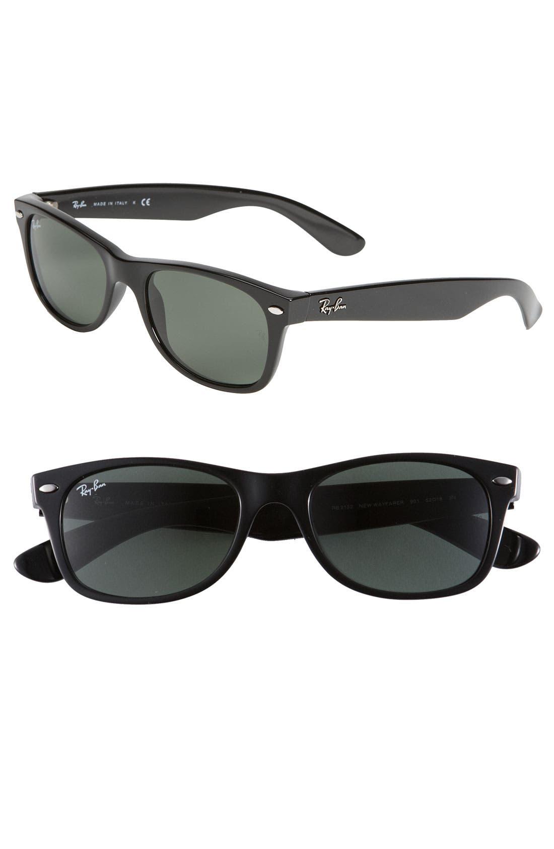 Small New Wayfarer 52mm Sunglasses,                             Main thumbnail 1, color,                             002