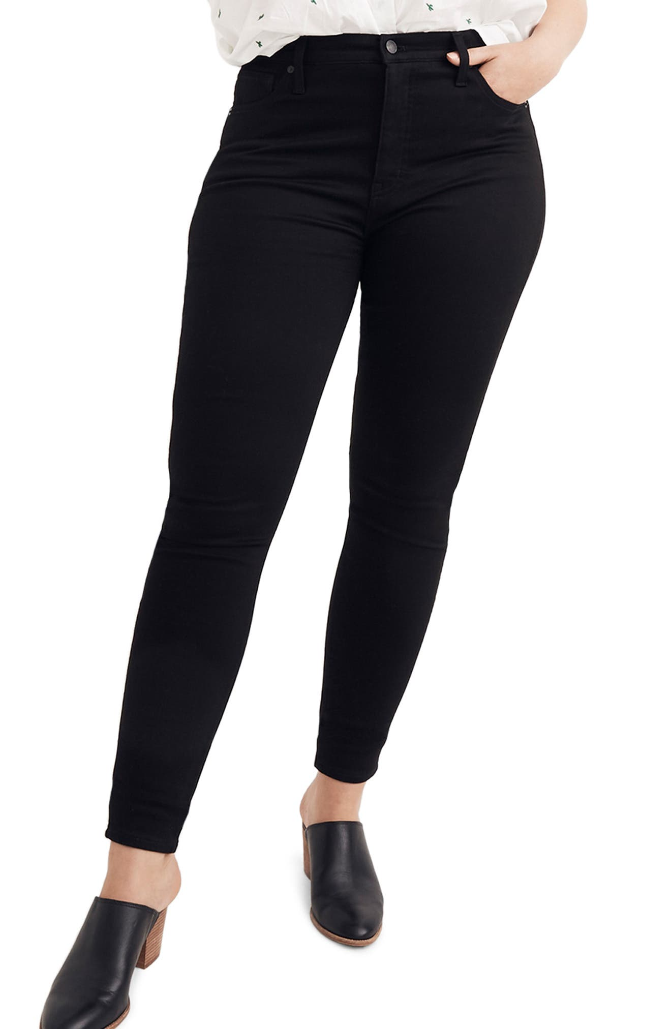 10-Inch High Rise Skinny Jeans,                             Alternate thumbnail 2, color,                             CARBONDALE