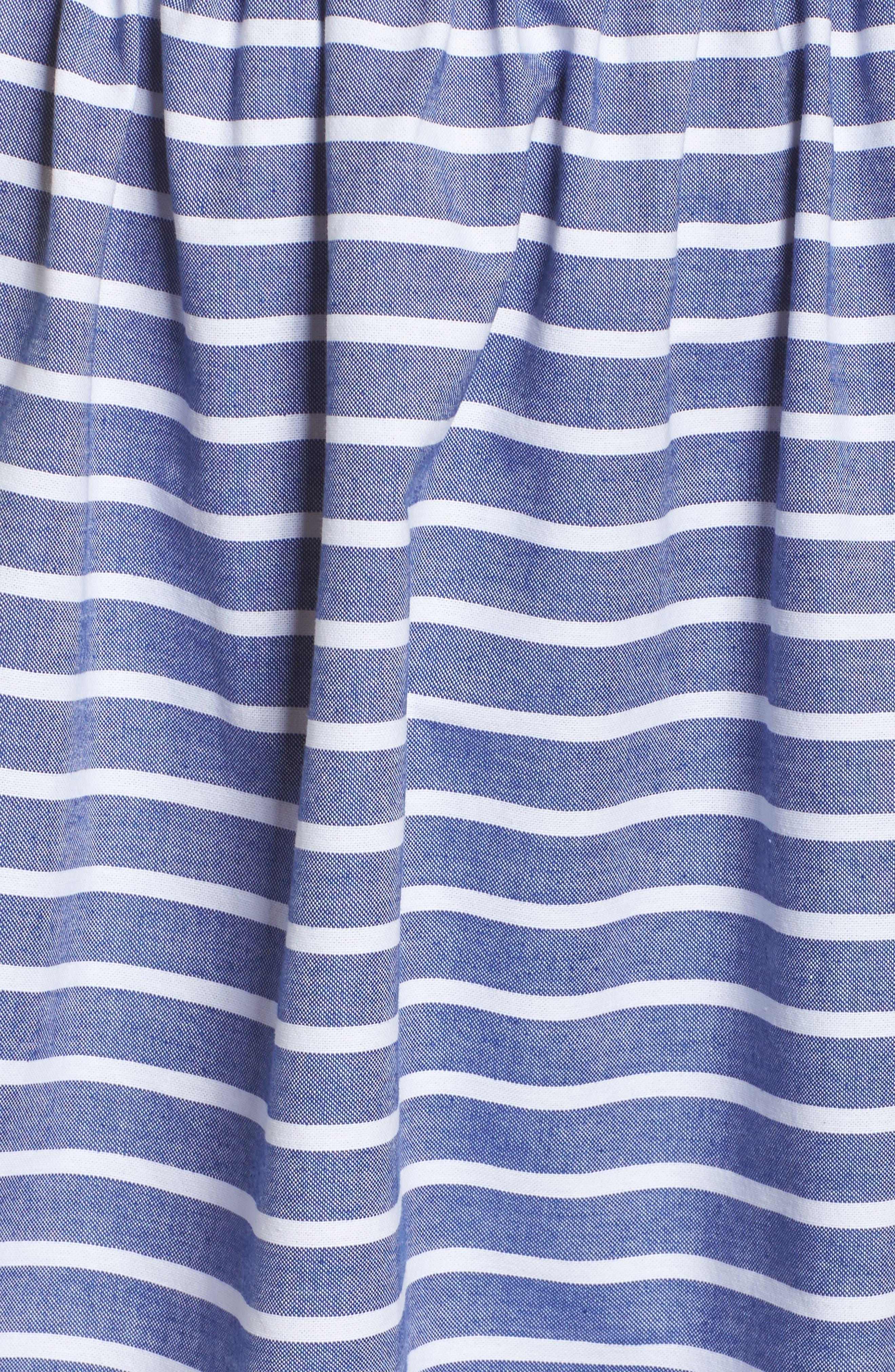 Stripe Off the Shoulder Dress,                             Alternate thumbnail 5, color,