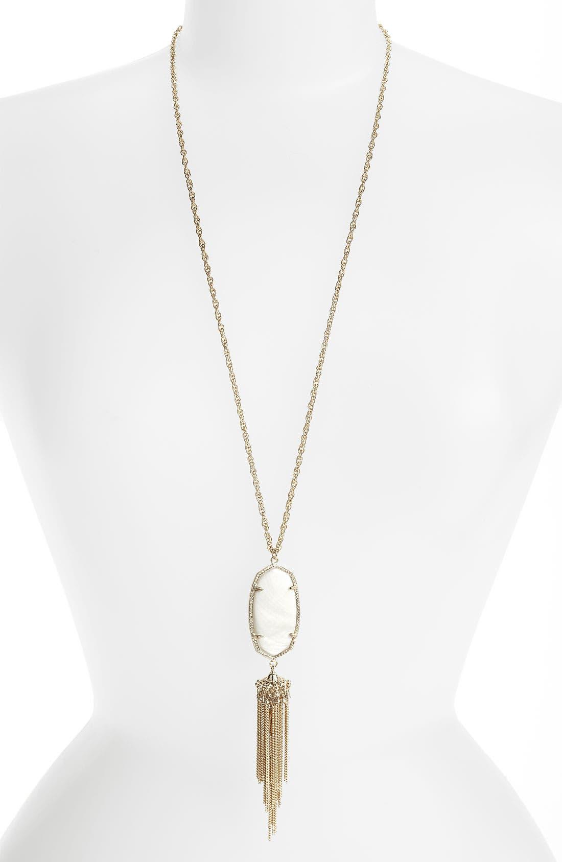 Rayne Stone Tassel Pendant Necklace,                             Main thumbnail 5, color,