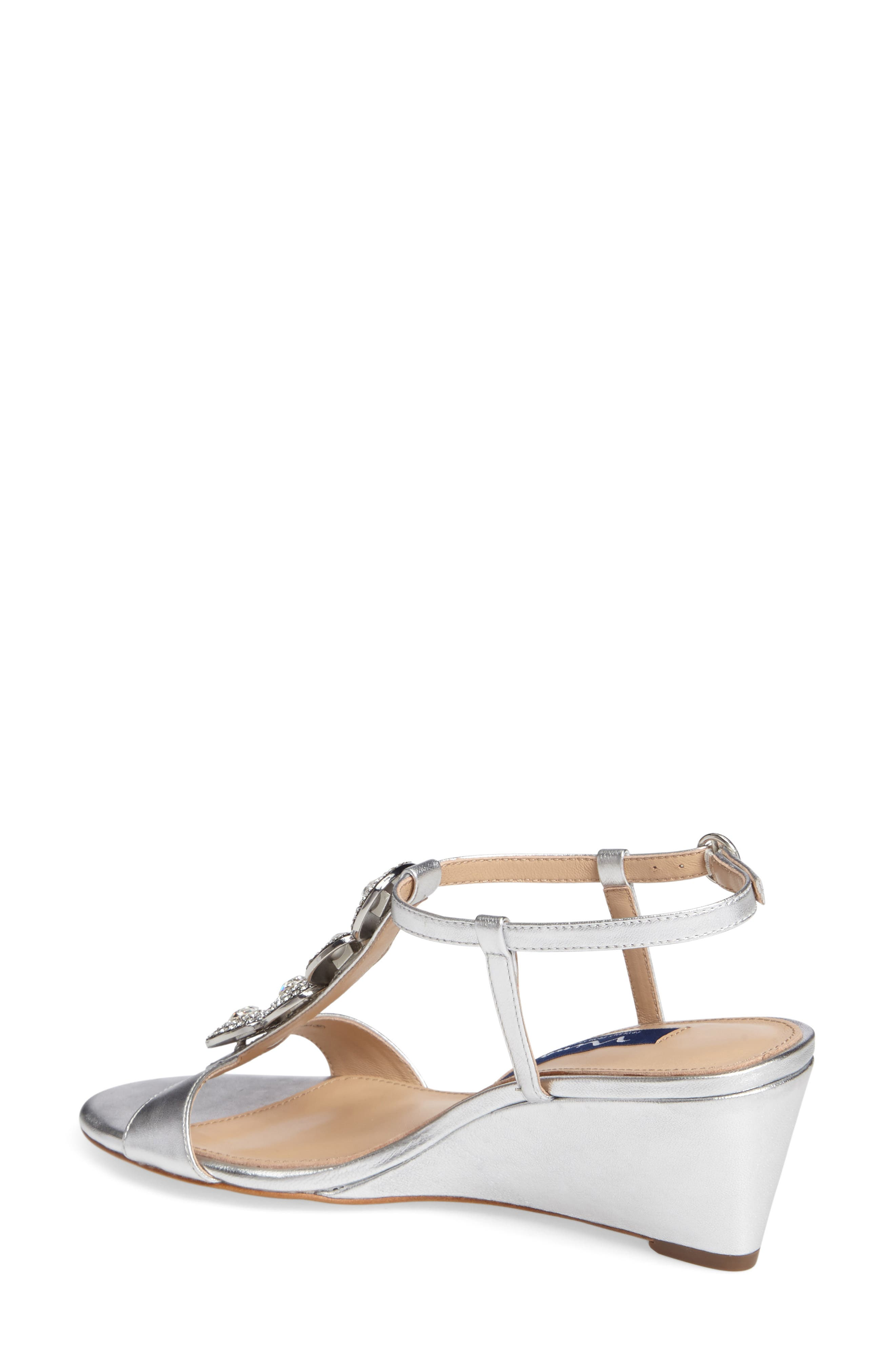 Natania Swarovski Wedge Sandal,                             Alternate thumbnail 2, color,                             043
