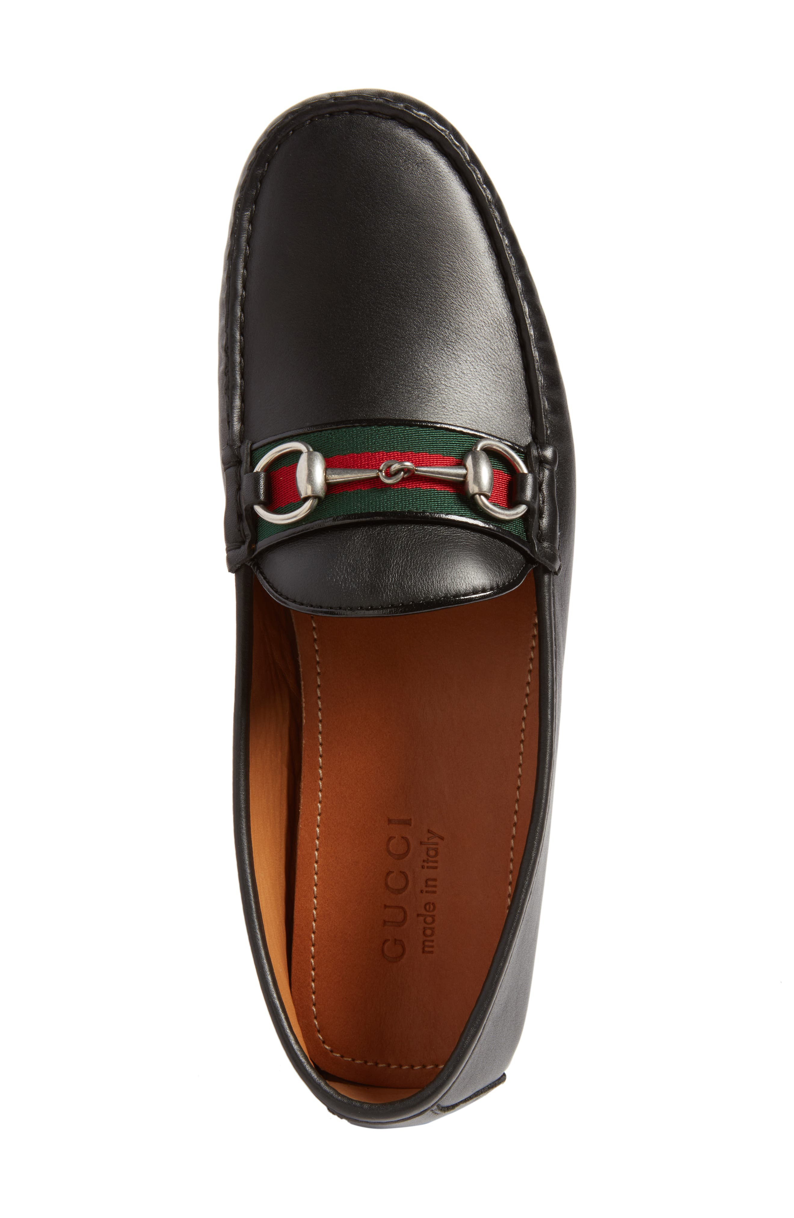 Kanye Bit Loafer,                             Alternate thumbnail 5, color,                             NERO LEATHER
