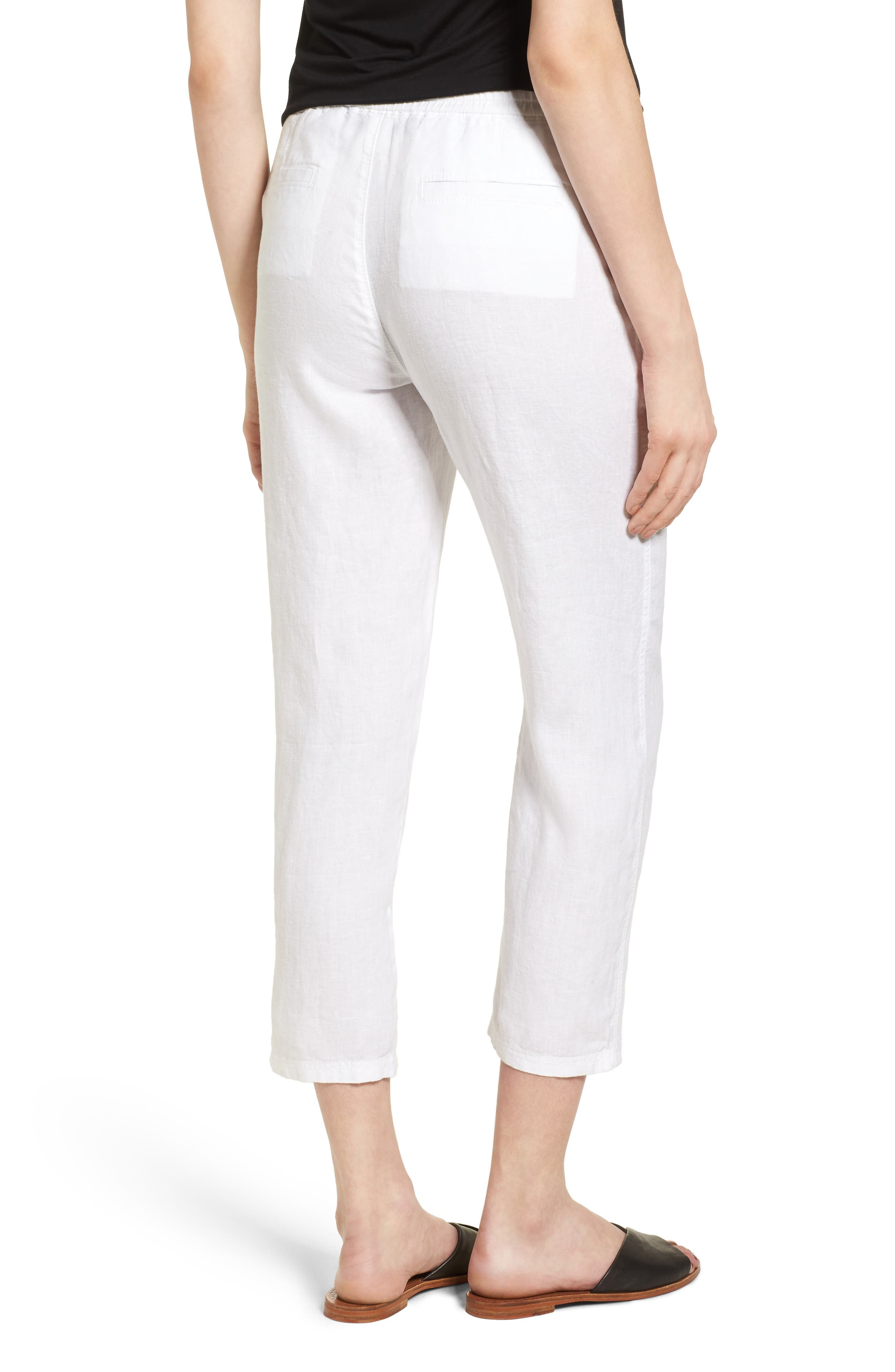 Linen Crop Pants,                             Alternate thumbnail 10, color,