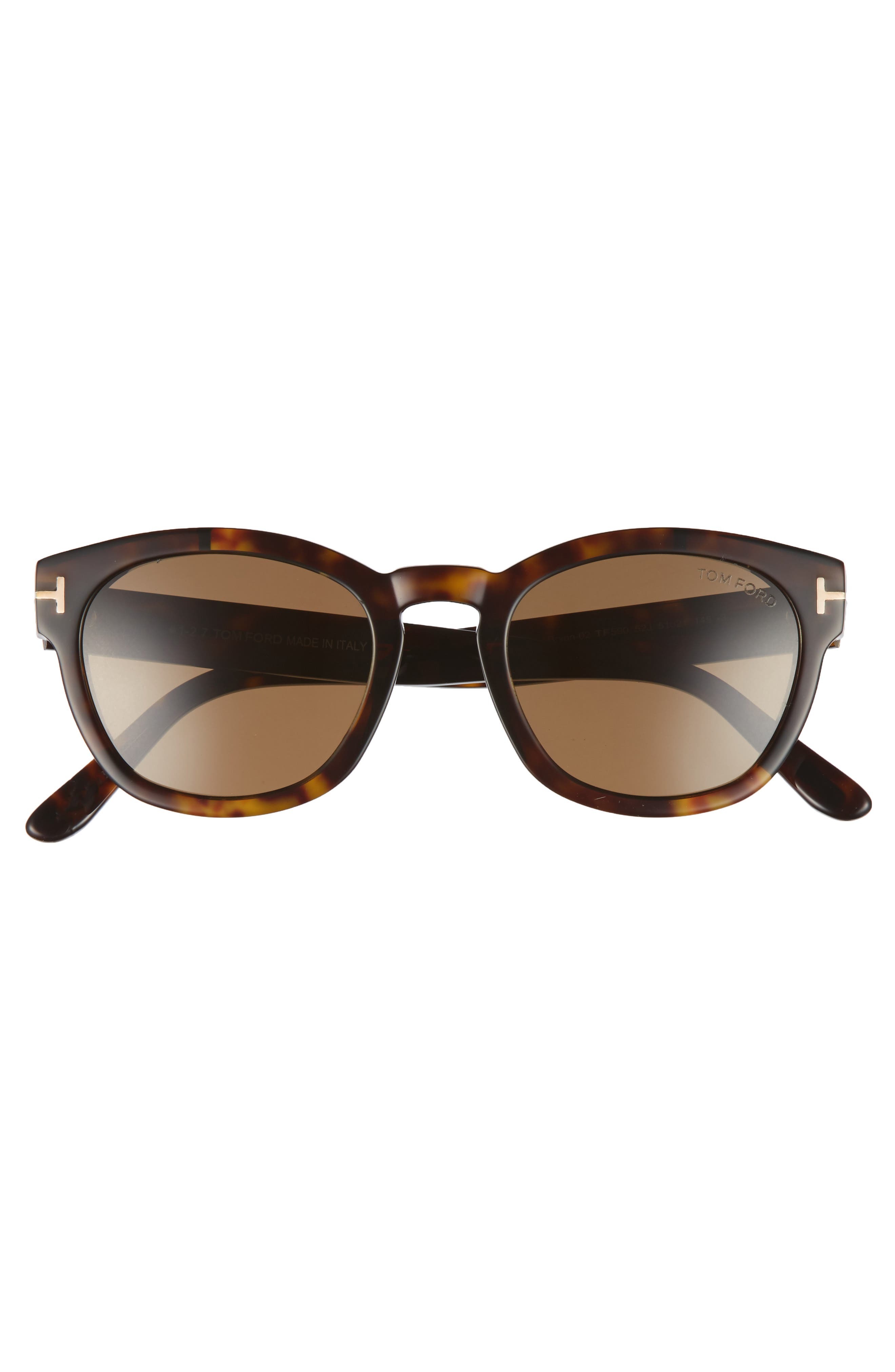 Bryan 51mm Sunglasses,                             Alternate thumbnail 2, color,                             DARK HAVANA/ ROVIEX