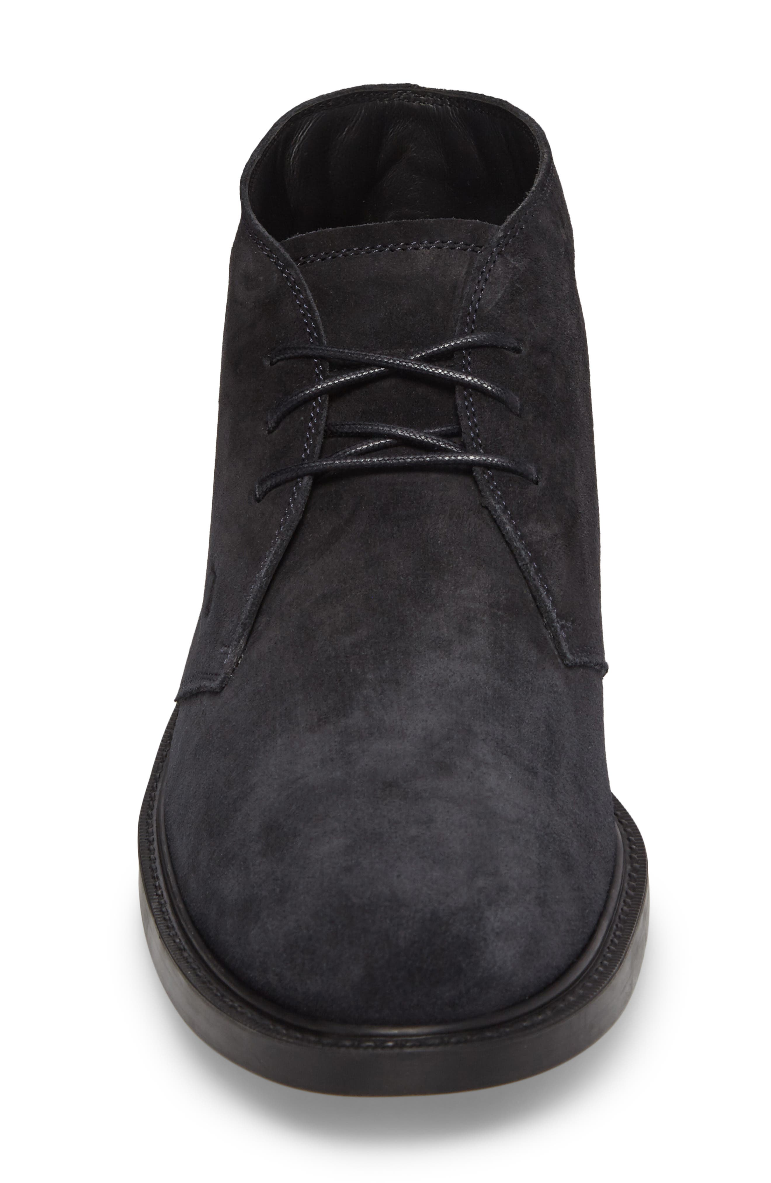 TOD'S,                             'Polacco' Chukka Boot,                             Alternate thumbnail 4, color,                             NAVY SUEDE