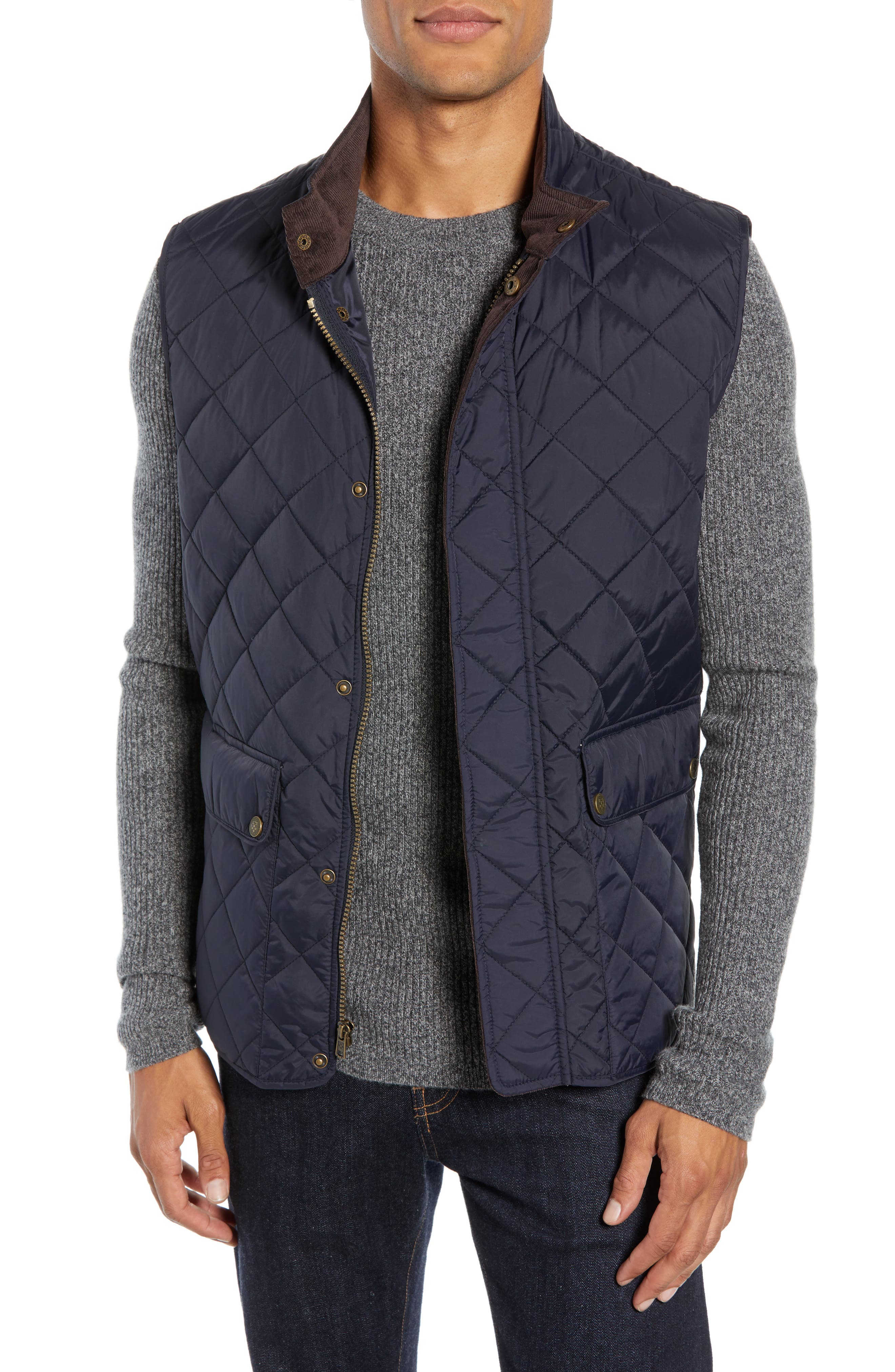 Vince Camuto Diamond Quilted Vest, Blue