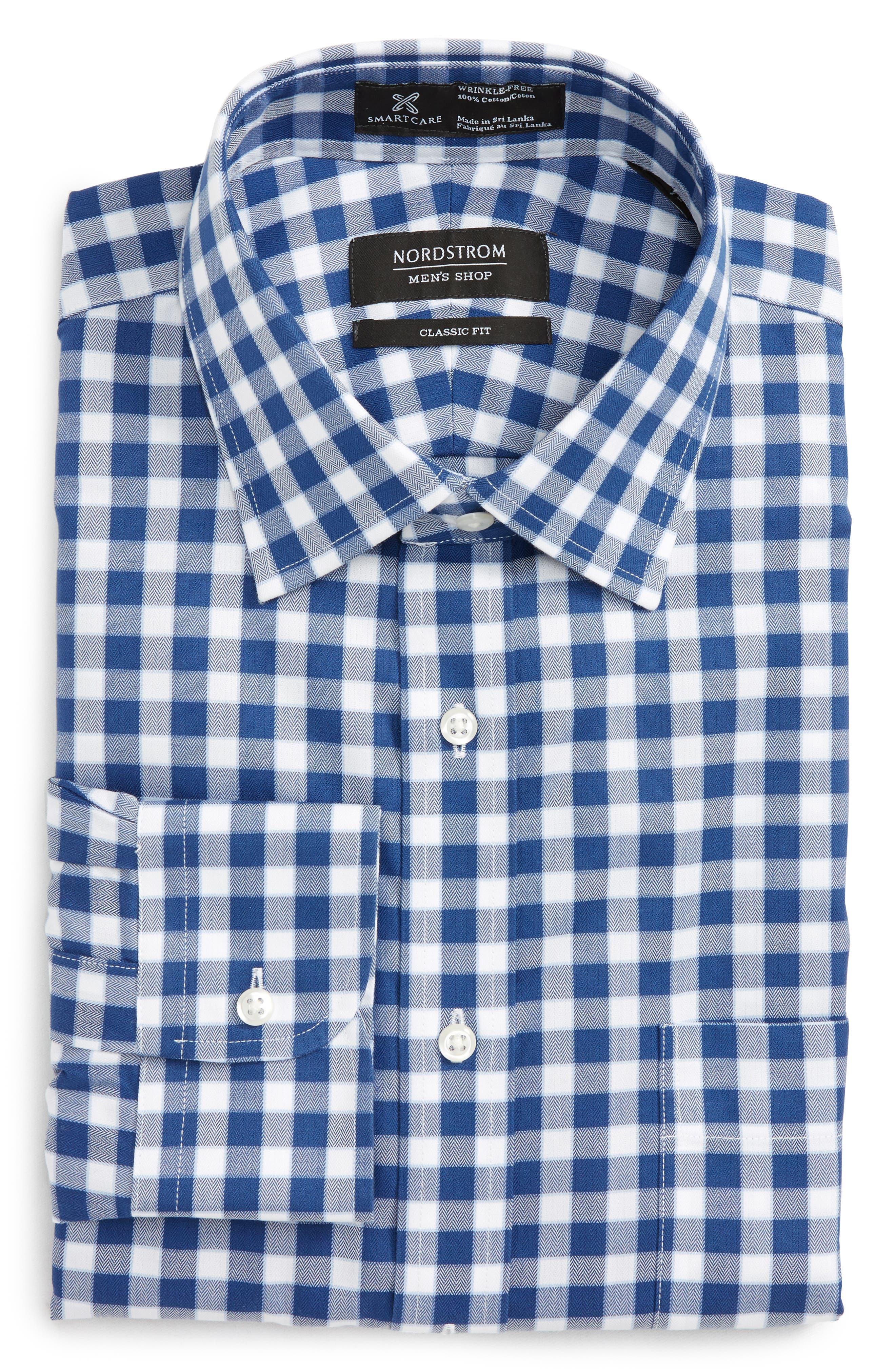Smartcare<sup>™</sup> Classic Fit Check Dress Shirt,                             Main thumbnail 2, color,