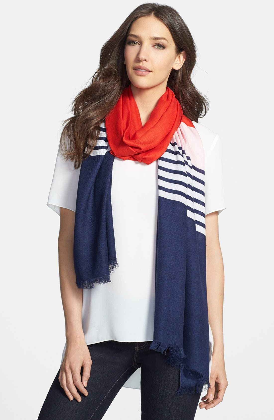 KATE SPADE NEW YORK,                             colorblock scarf,                             Main thumbnail 1, color,                             600