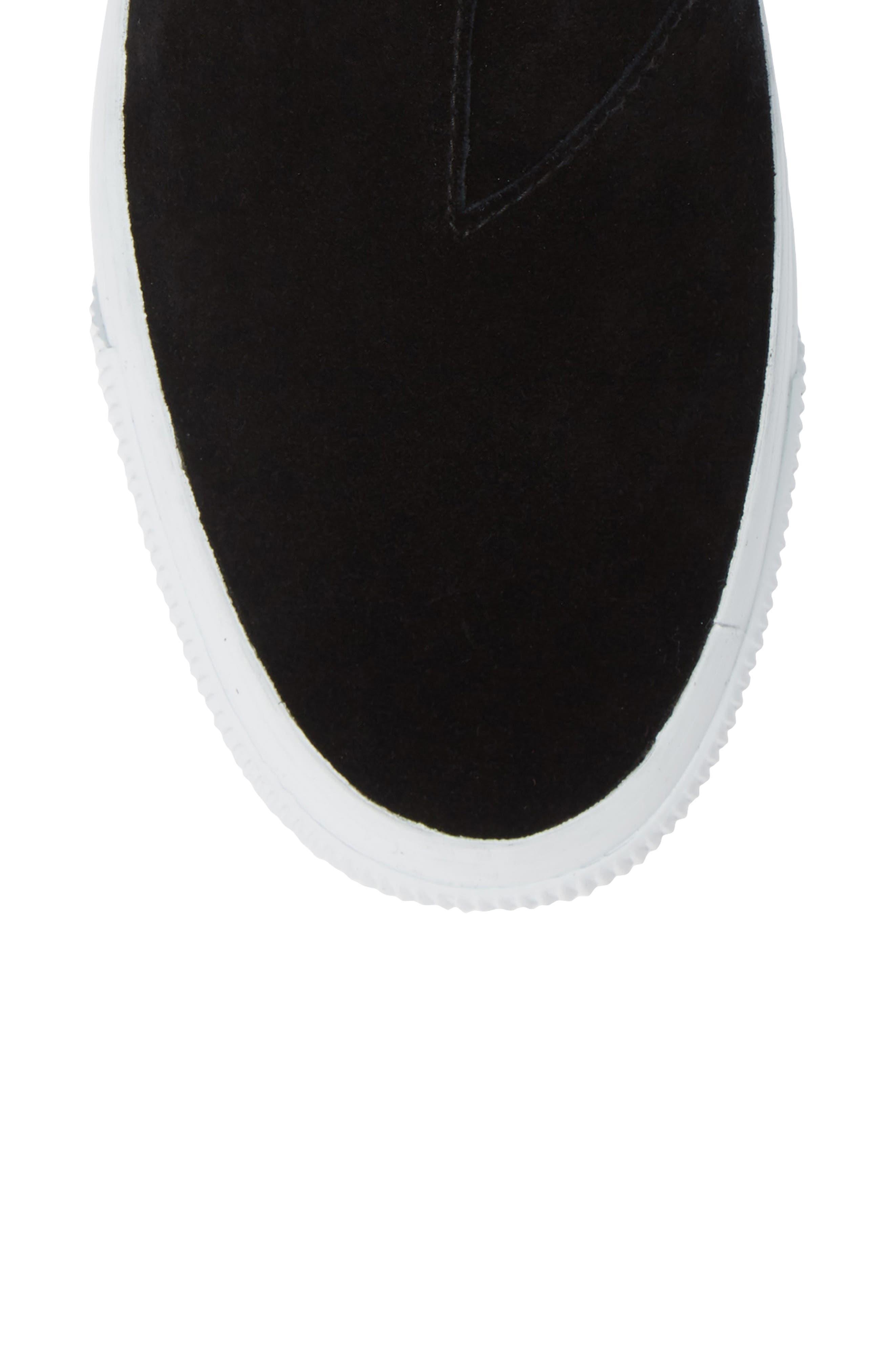 Kapri High Top Sneaker,                             Alternate thumbnail 5, color,                             BLACK