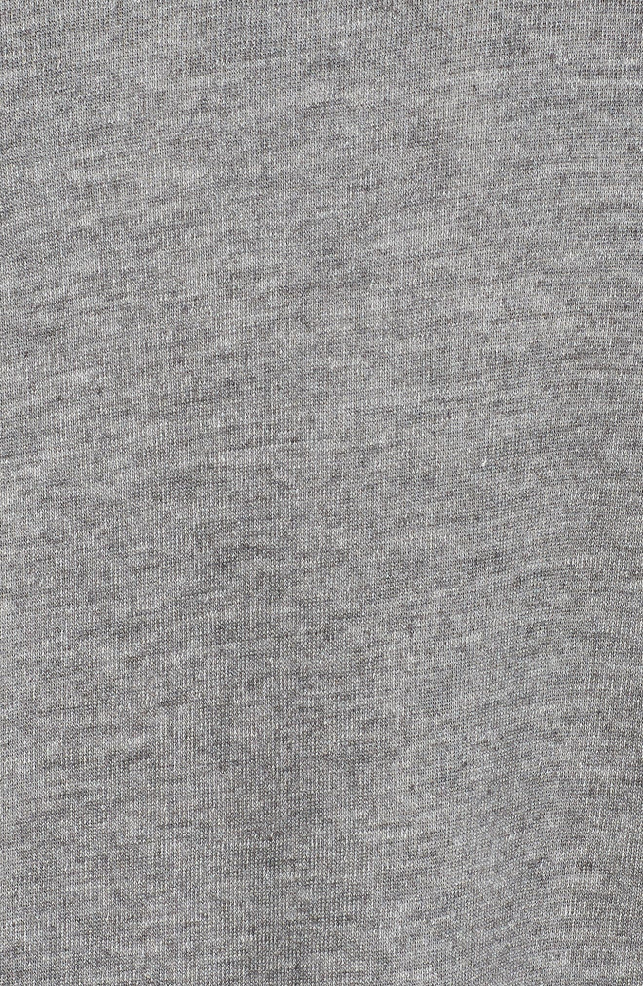 Laced Sleeve Pullover,                             Alternate thumbnail 6, color,                             MID HEATHER GREY
