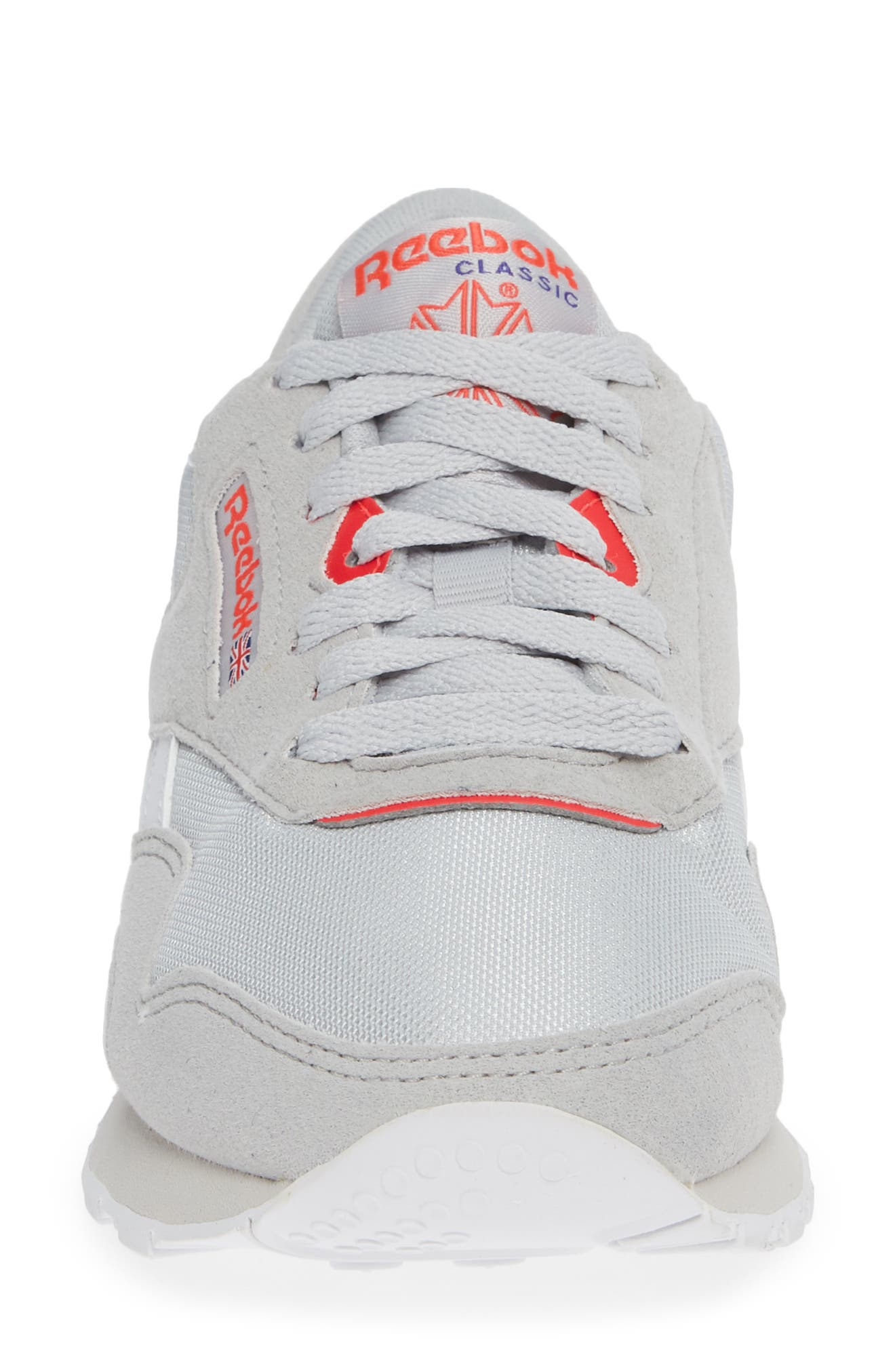Classic Nylon TXT Sneaker,                             Alternate thumbnail 4, color,                             GREY/ NEON CHERRY/ PURPLE