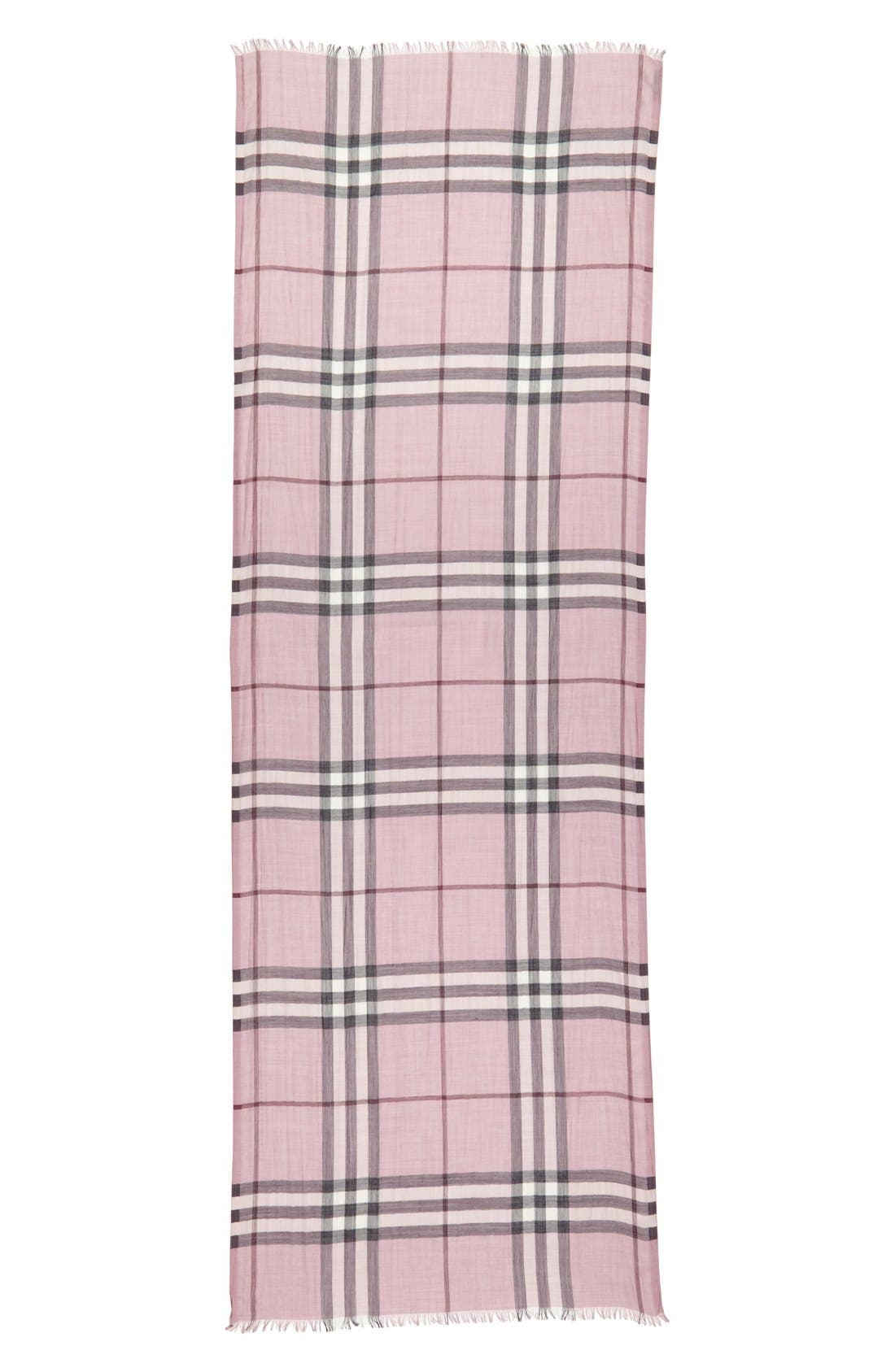 Giant Check Print Wool & Silk Scarf,                             Alternate thumbnail 115, color,