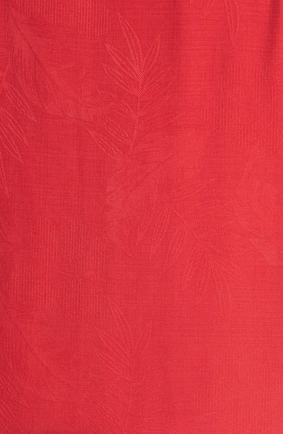 Rio Fronds Short Sleeve Silk Sport Shirt,                             Alternate thumbnail 98, color,