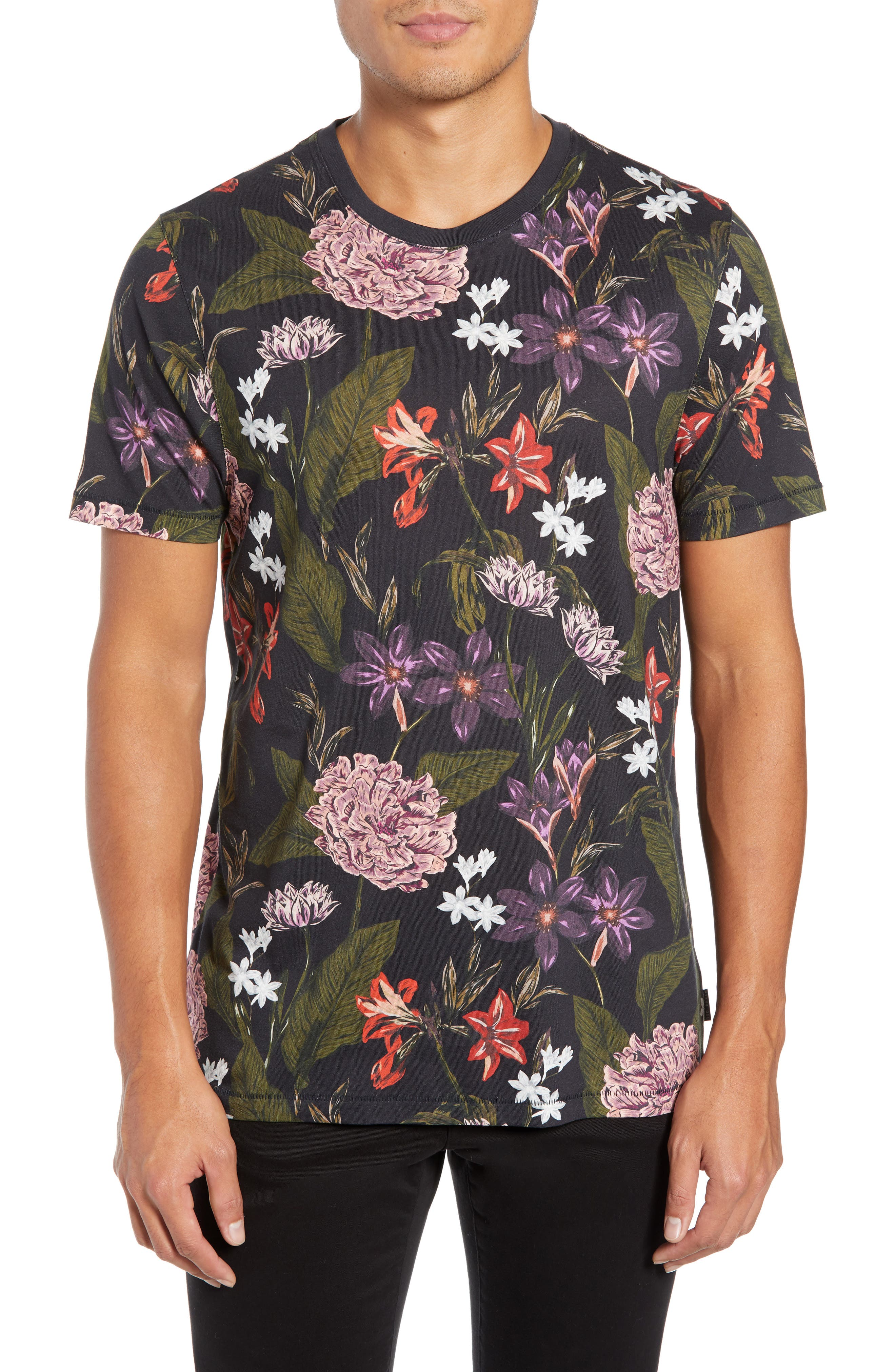 Glee Slim Fit Print T-Shirt,                             Main thumbnail 1, color,                             NAVY