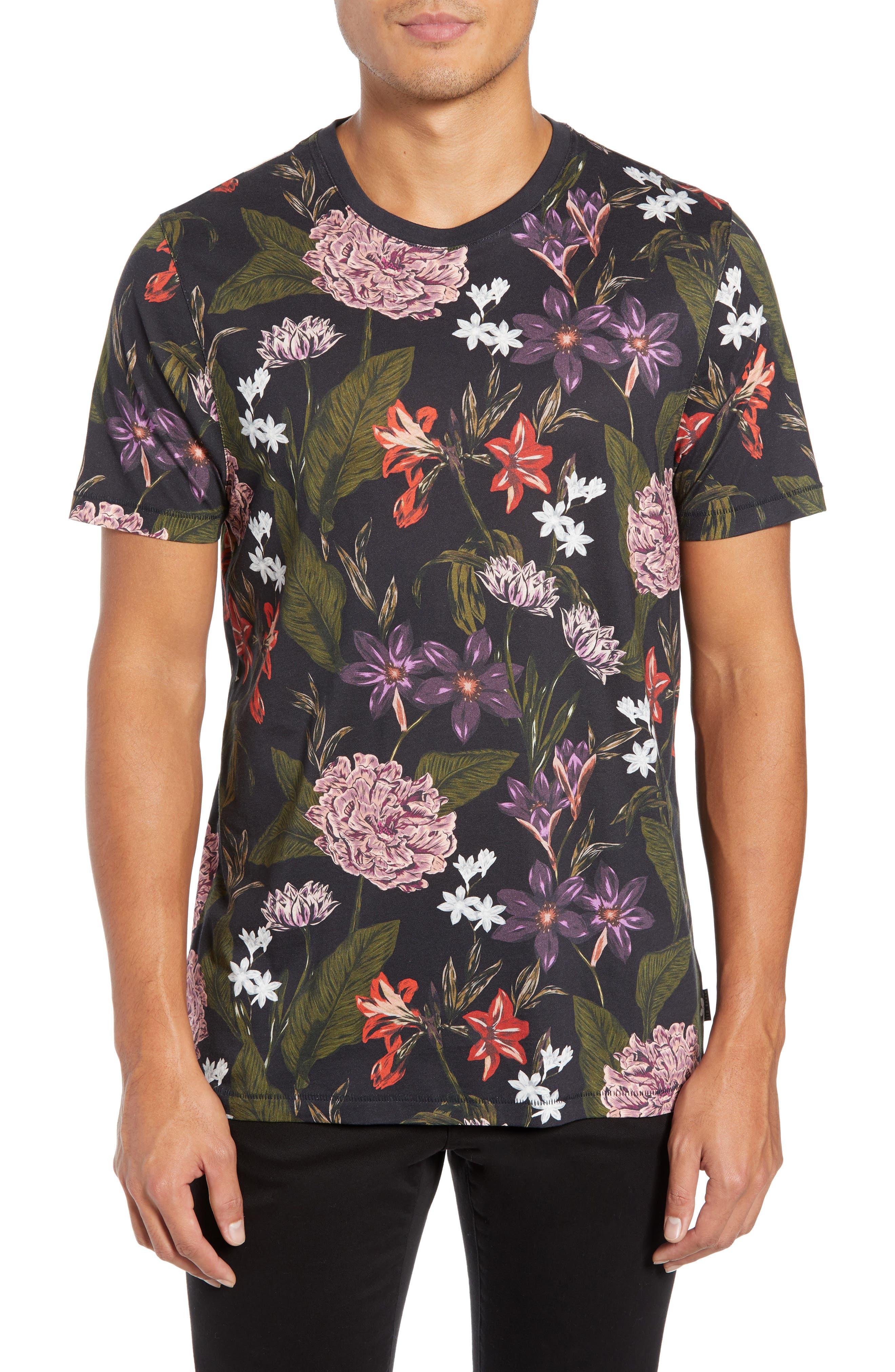 Glee Slim Fit Print T-Shirt,                         Main,                         color, NAVY