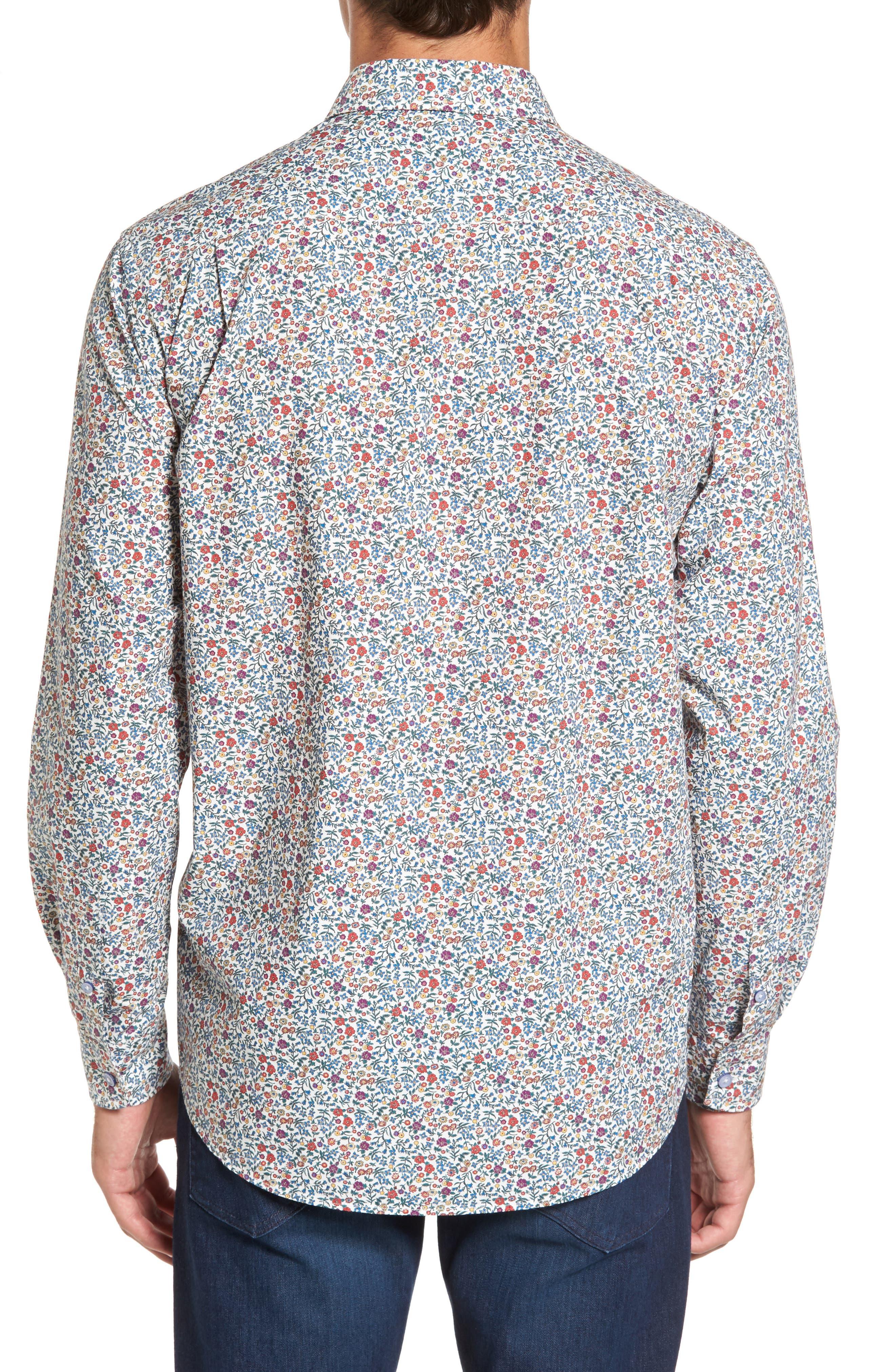 Cowes Bay Regular Fit Floral Sport Shirt,                             Alternate thumbnail 2, color,