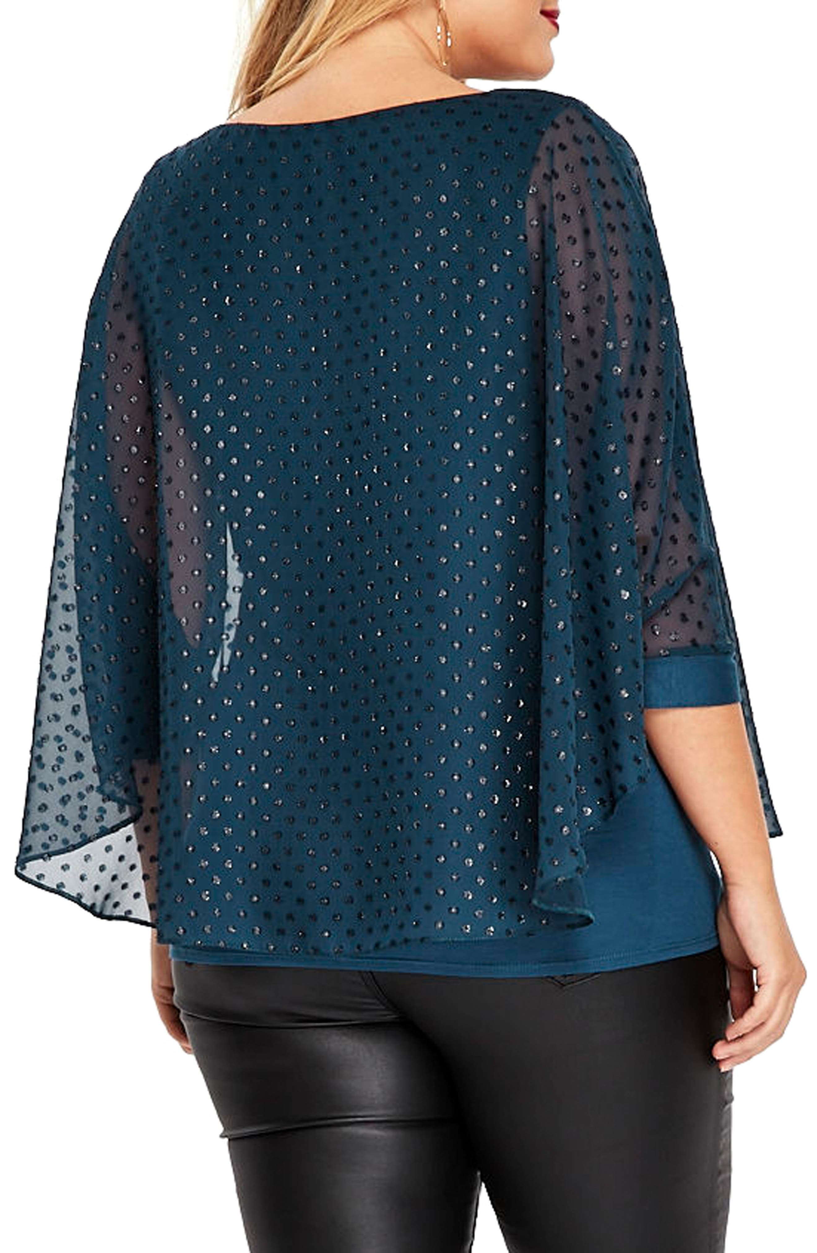 Sparkle Overlay Top,                             Alternate thumbnail 2, color,