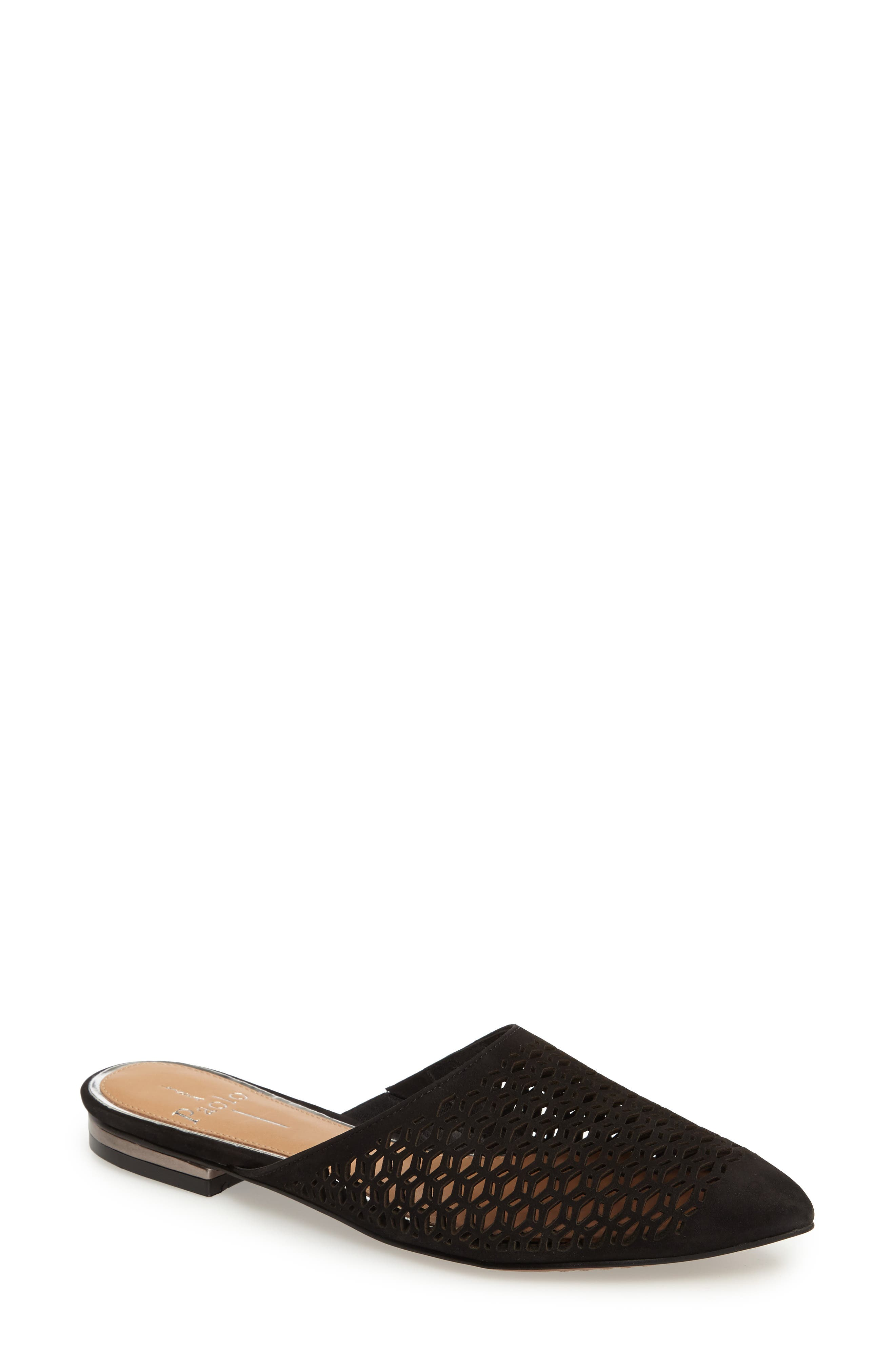 Daisy Perforated Mule,                             Main thumbnail 1, color,                             007