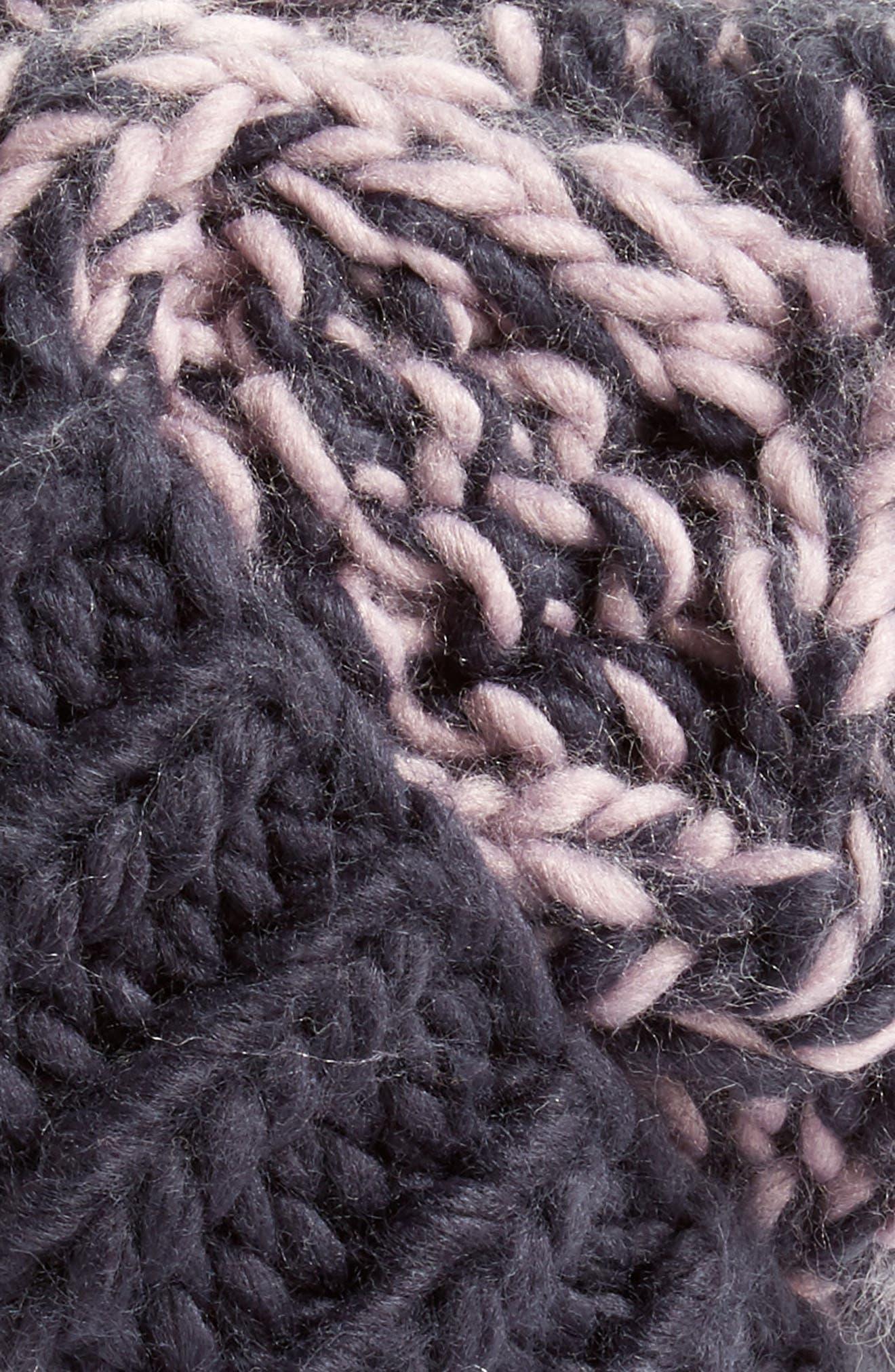 Treasure&Bond Stripe Knit Beanie,                             Alternate thumbnail 6, color,