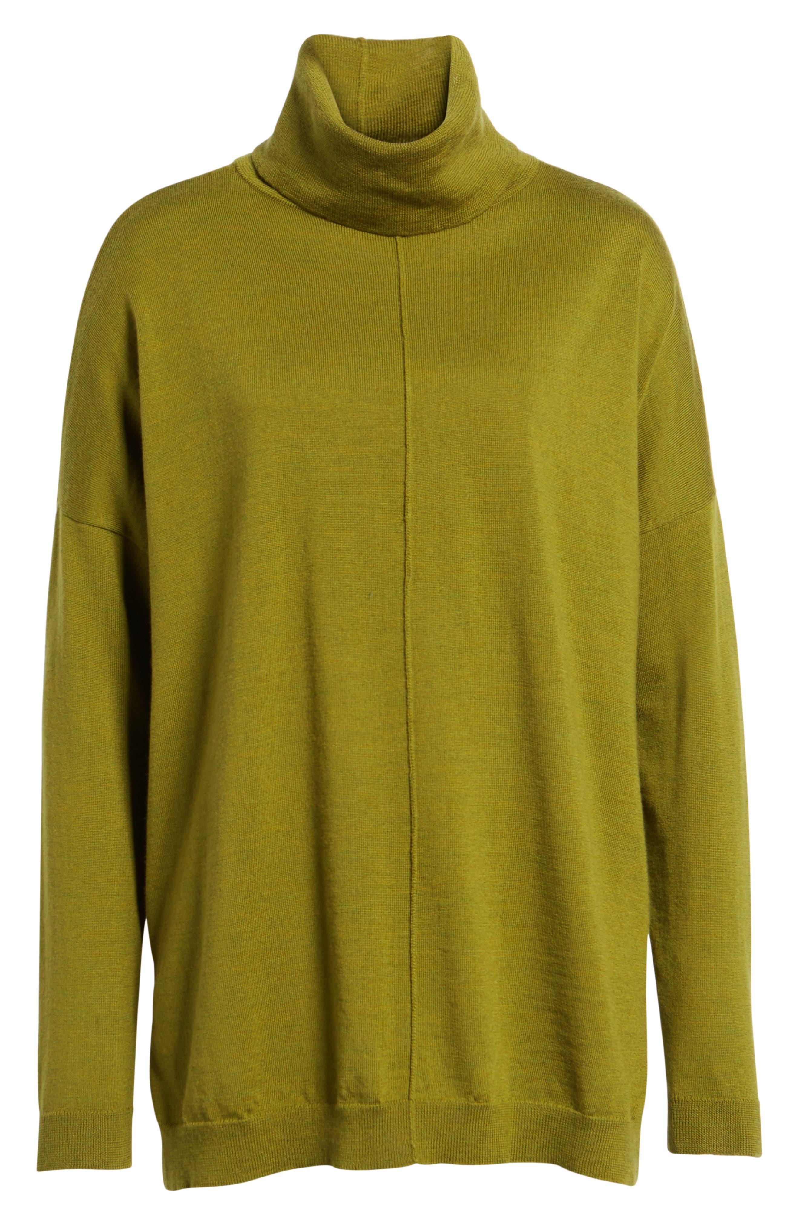 Merino Wool Boxy Turtleneck Sweater,                             Alternate thumbnail 32, color,