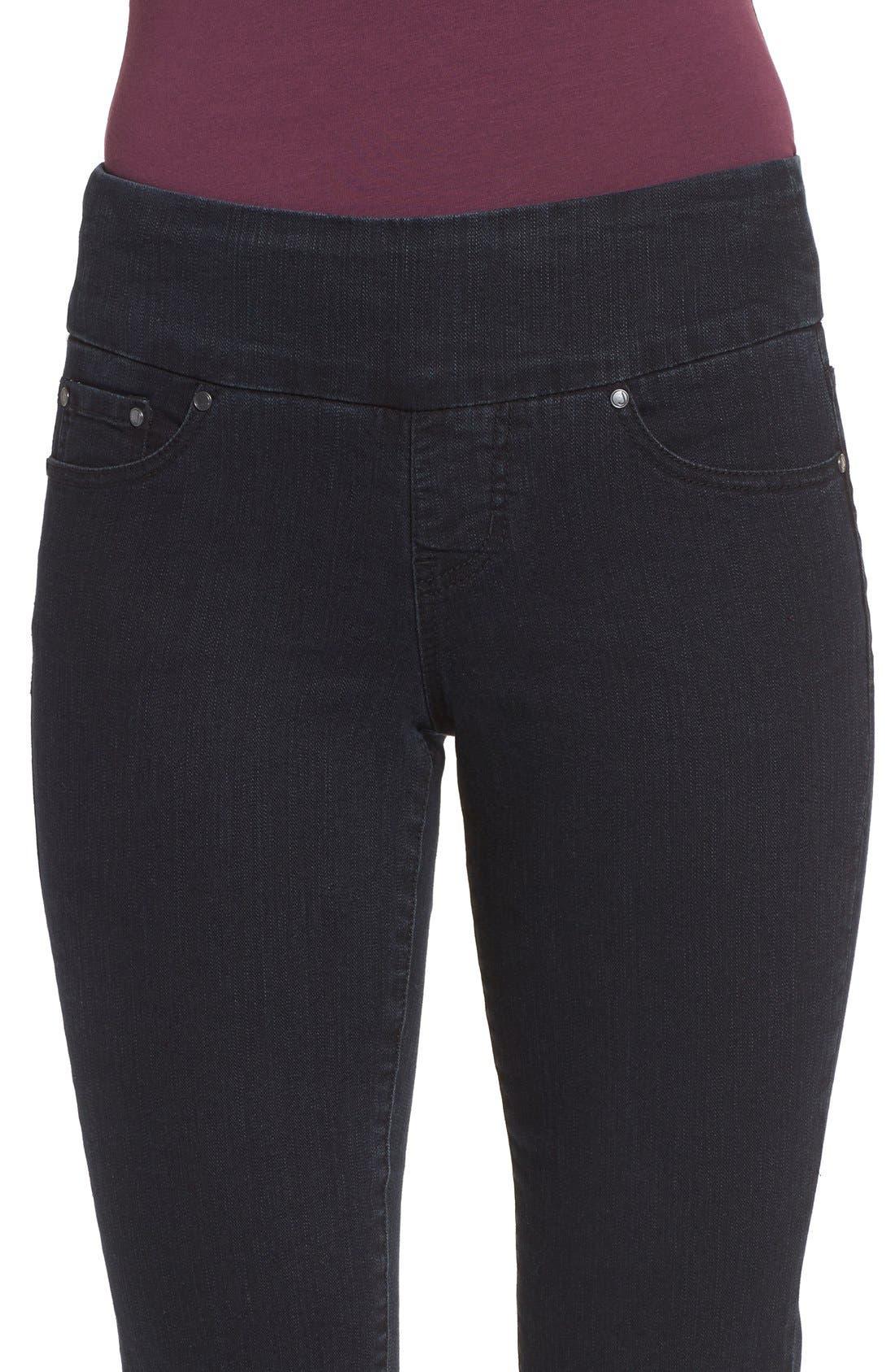 'Peri' Straight Leg Pull-On Jeans,                             Alternate thumbnail 5, color,                             001