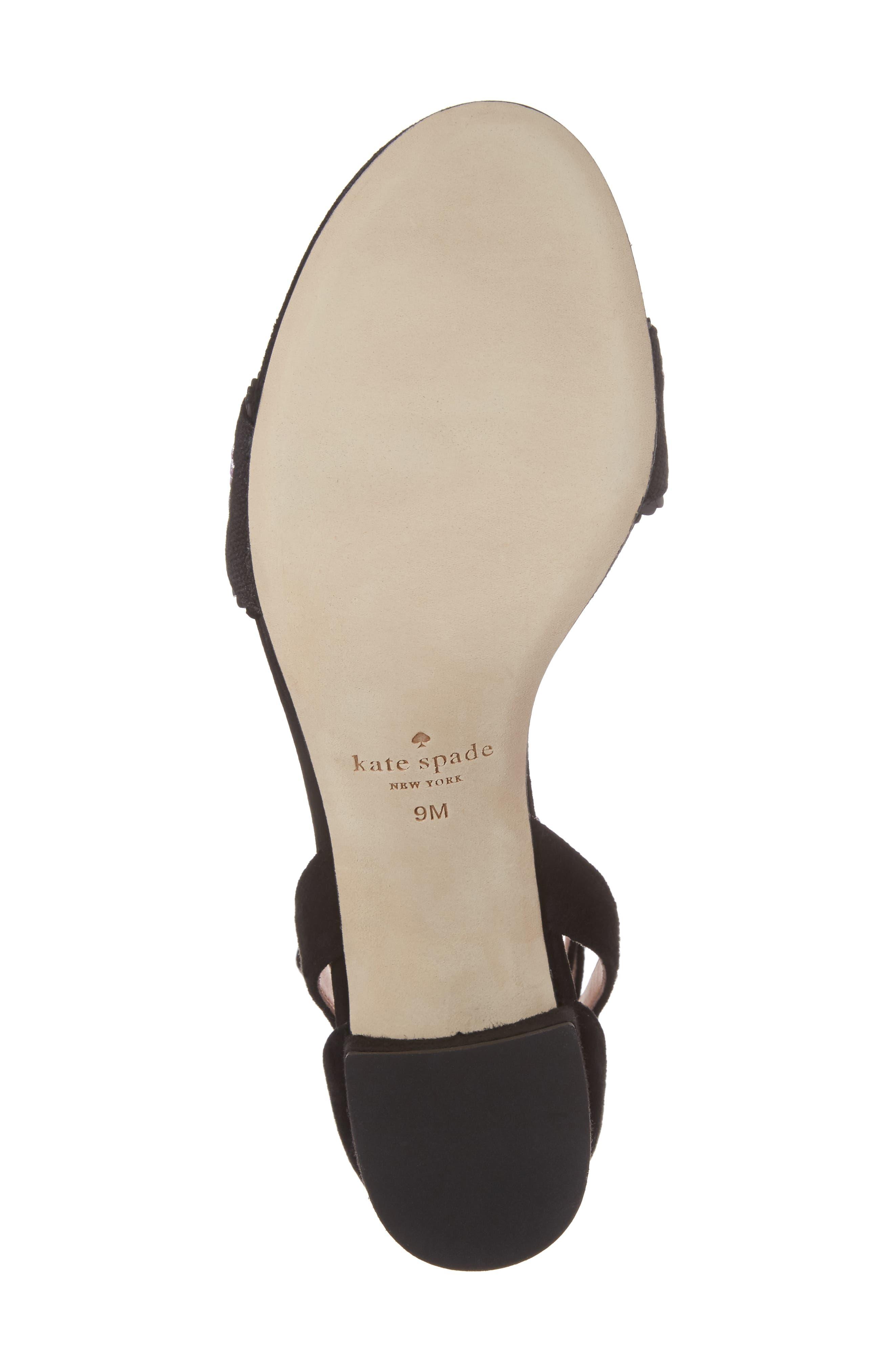 watson genuine calf hair block heel sandal,                             Alternate thumbnail 6, color,                             001