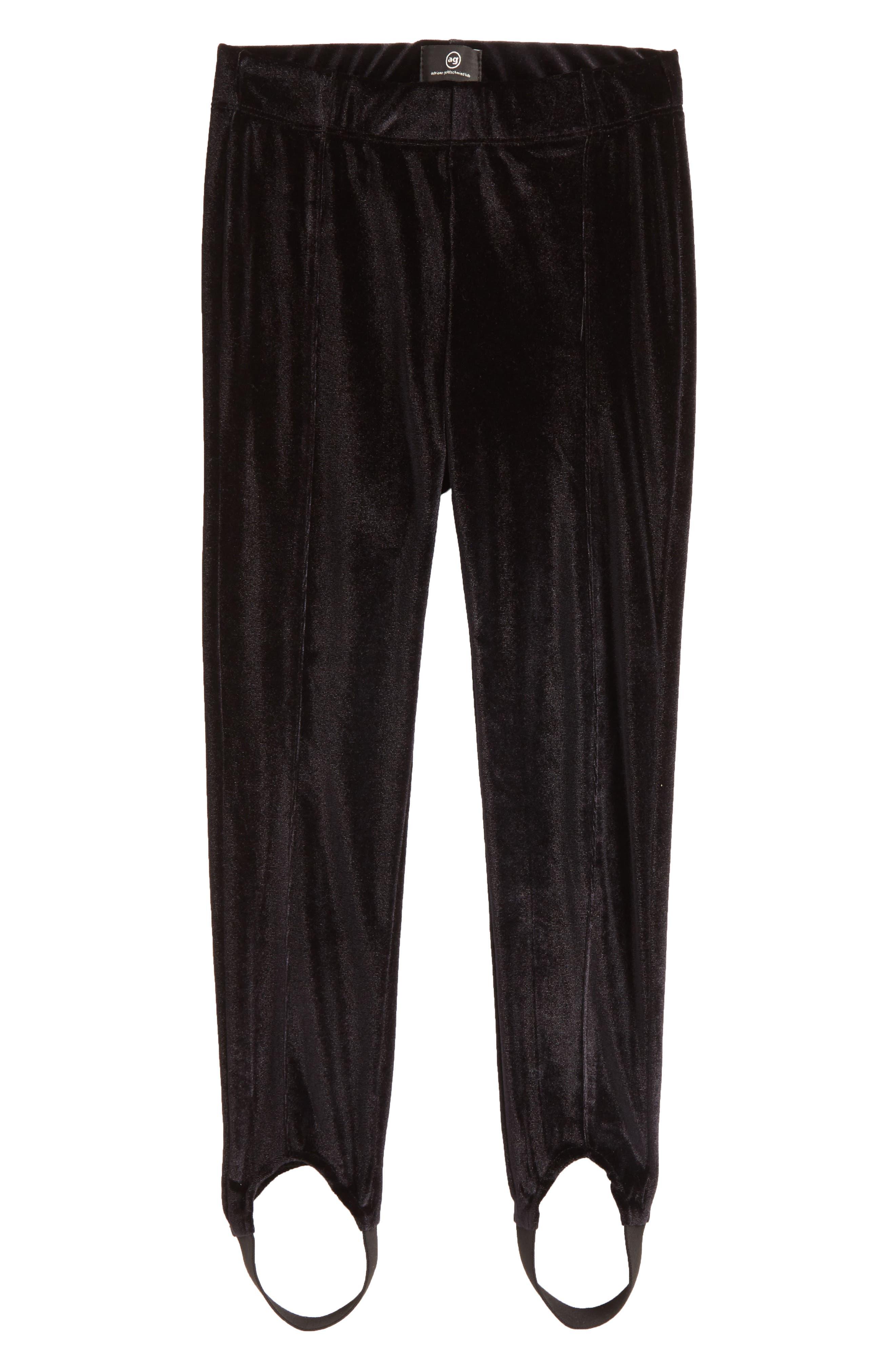 Velvet Stirrup Pants,                             Main thumbnail 1, color,                             001