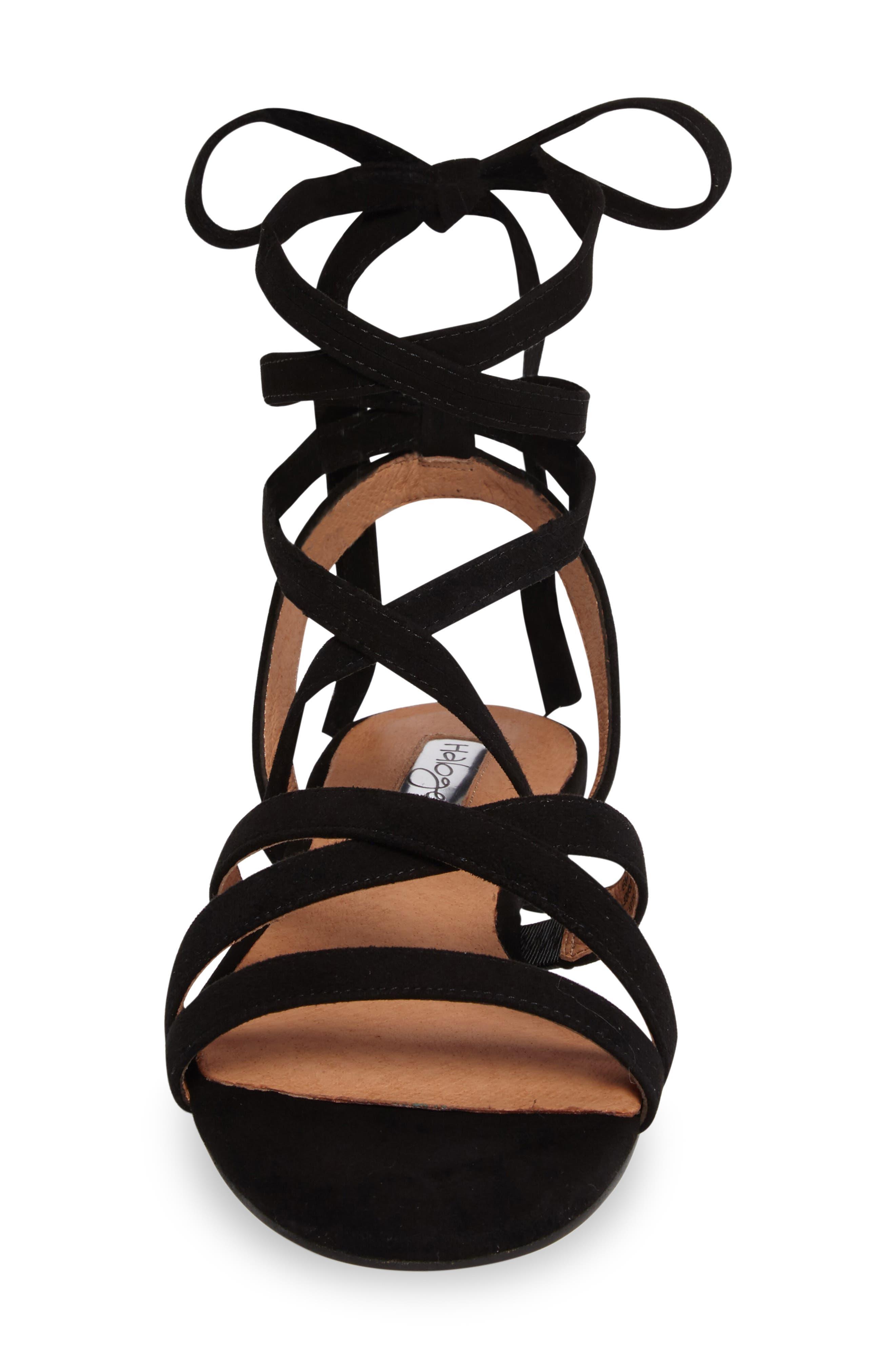 Frances Ankle Wrap Sandal,                             Alternate thumbnail 4, color,                             001