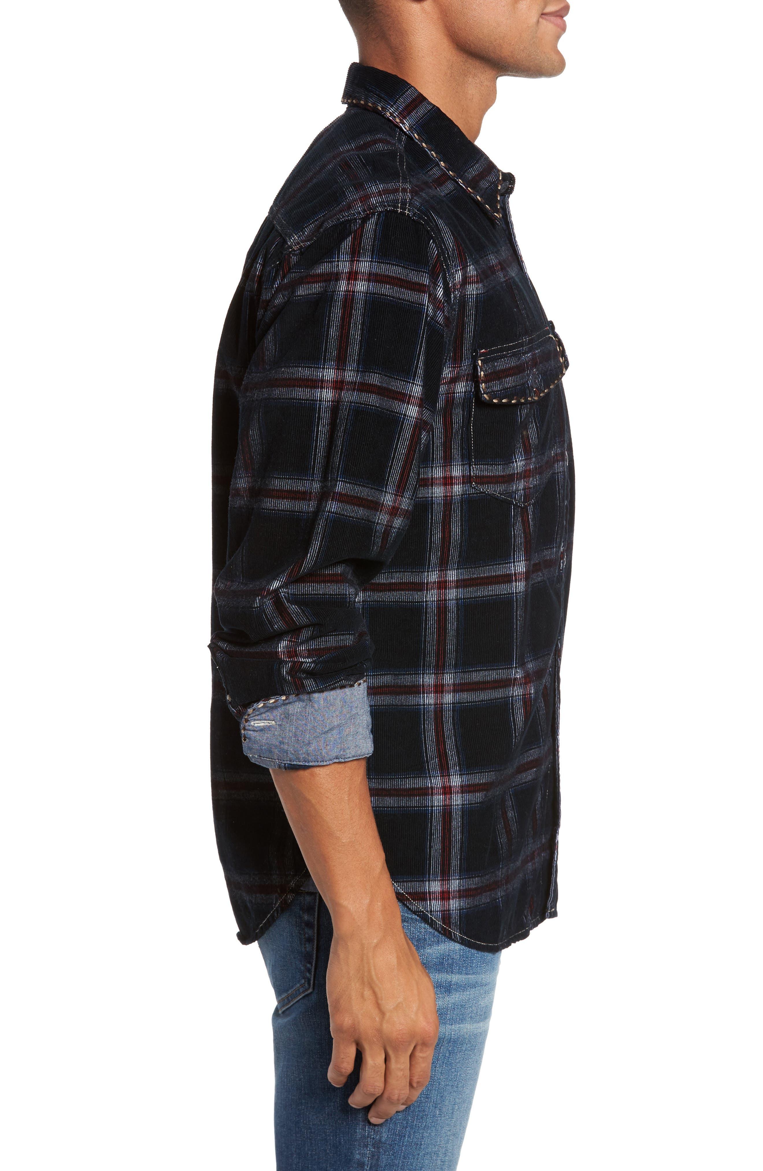 Summit Hunter Plaid Faux Shearling Lined Shirt Jacket,                             Alternate thumbnail 3, color,                             001