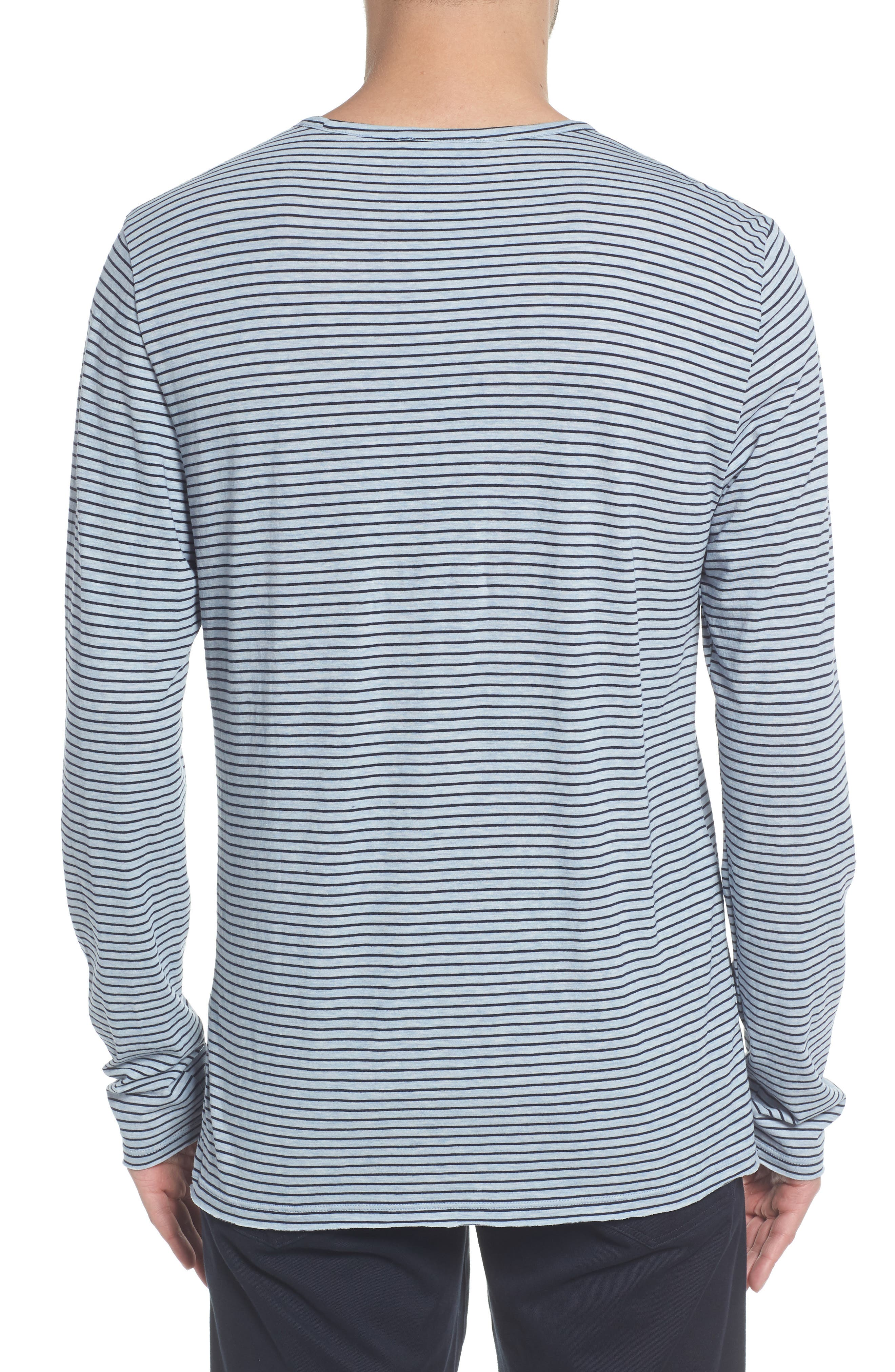 Stripe Long Sleeve Crewneck T-Shirt,                             Alternate thumbnail 2, color,                             H ARCTIC/ NEW COASTAL