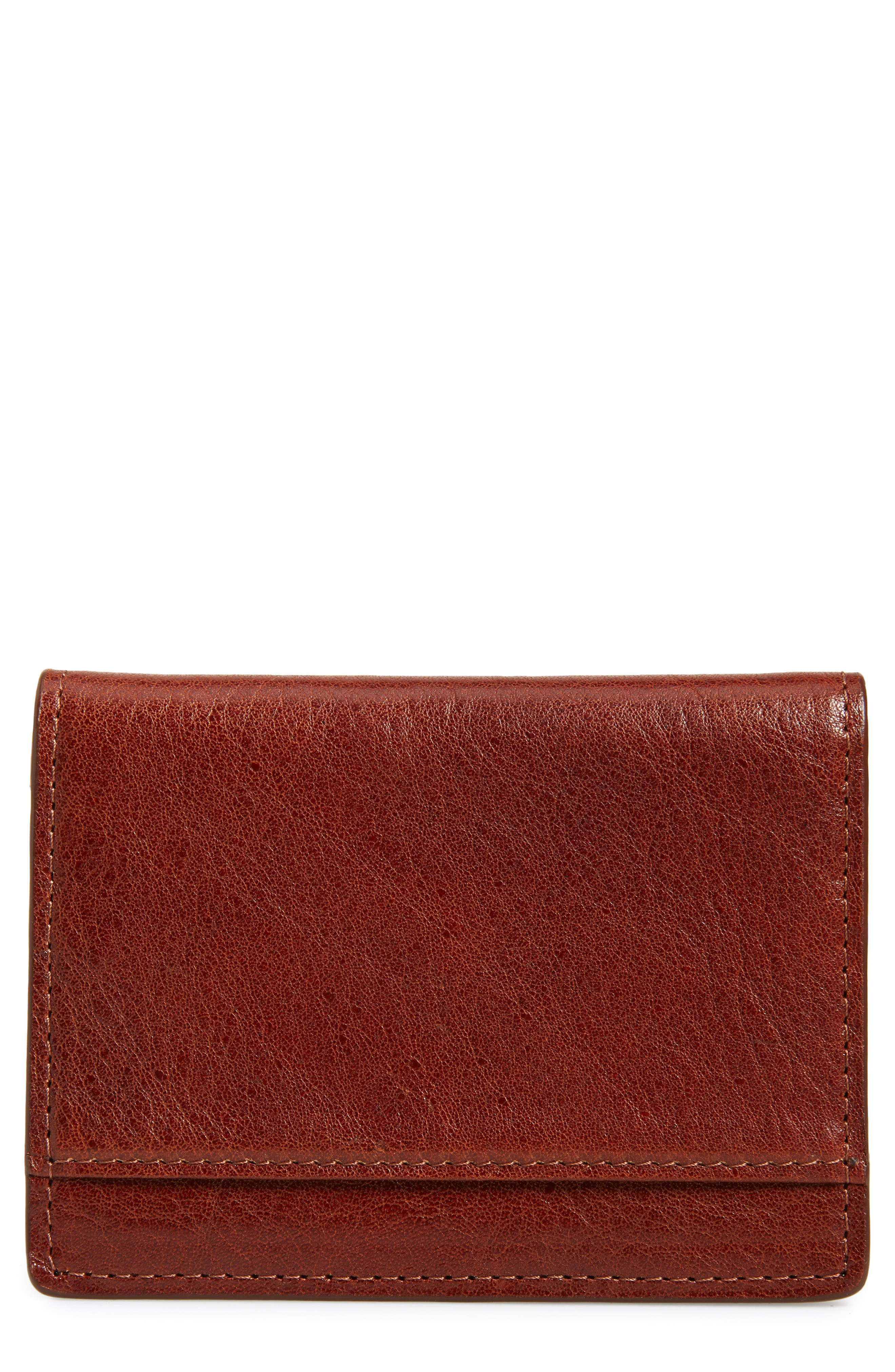 Richmond Leather Wallet,                         Main,                         color, BROWN HENNA