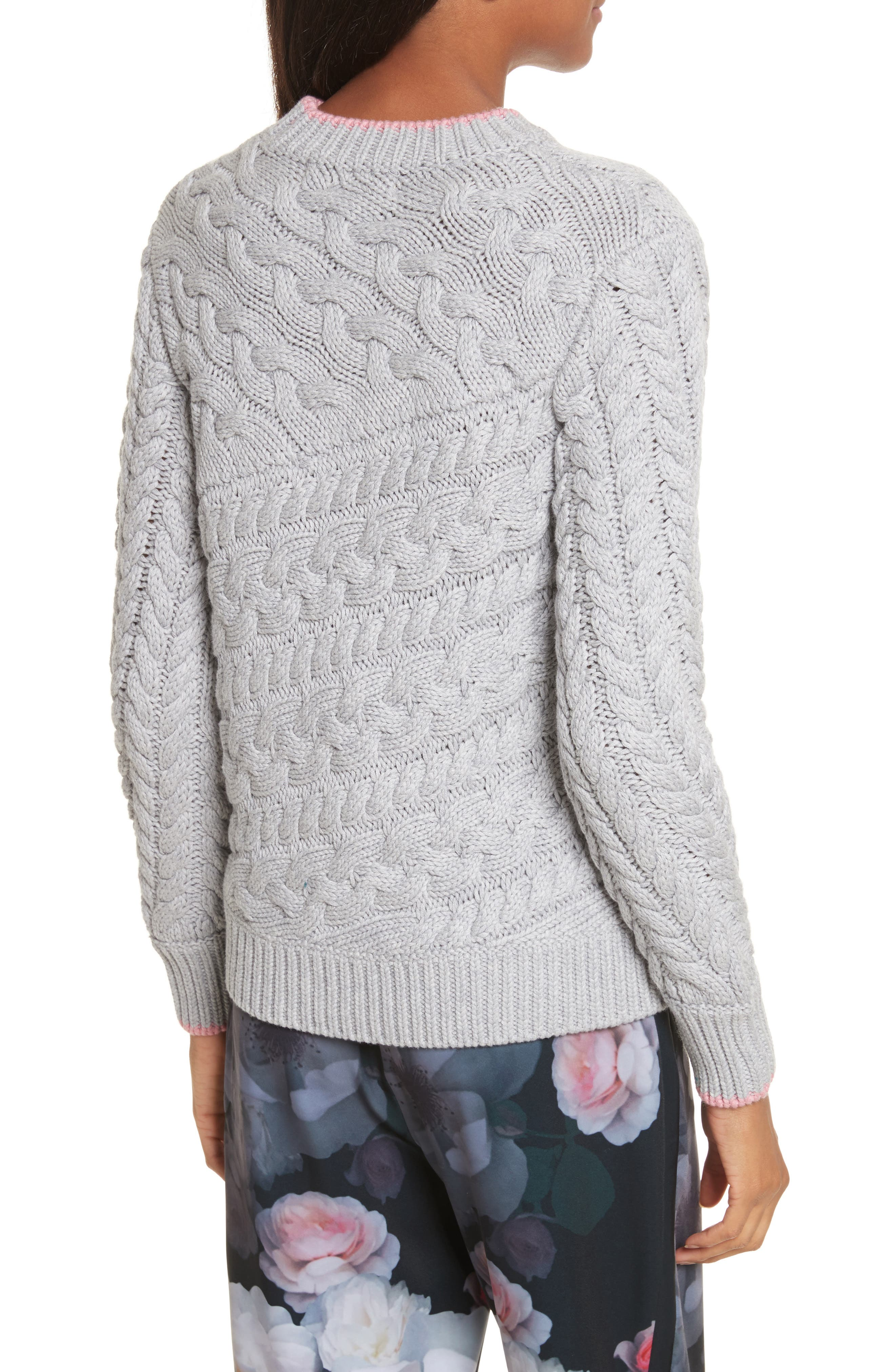 Charo Cable Knit Sweater,                             Alternate thumbnail 2, color,                             030