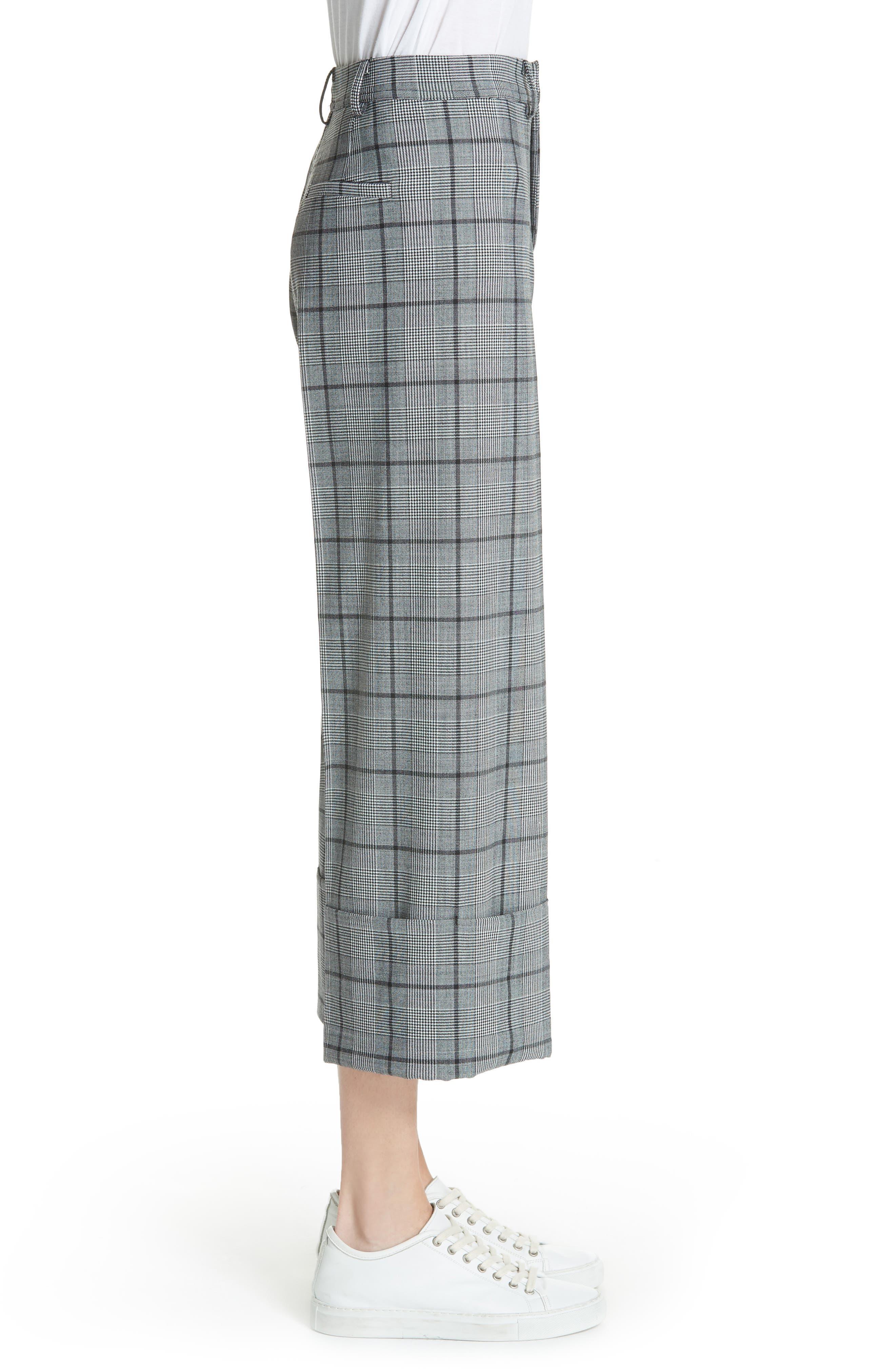 Bacall Cuff Crop Wide Leg Pants,                             Alternate thumbnail 3, color,                             028