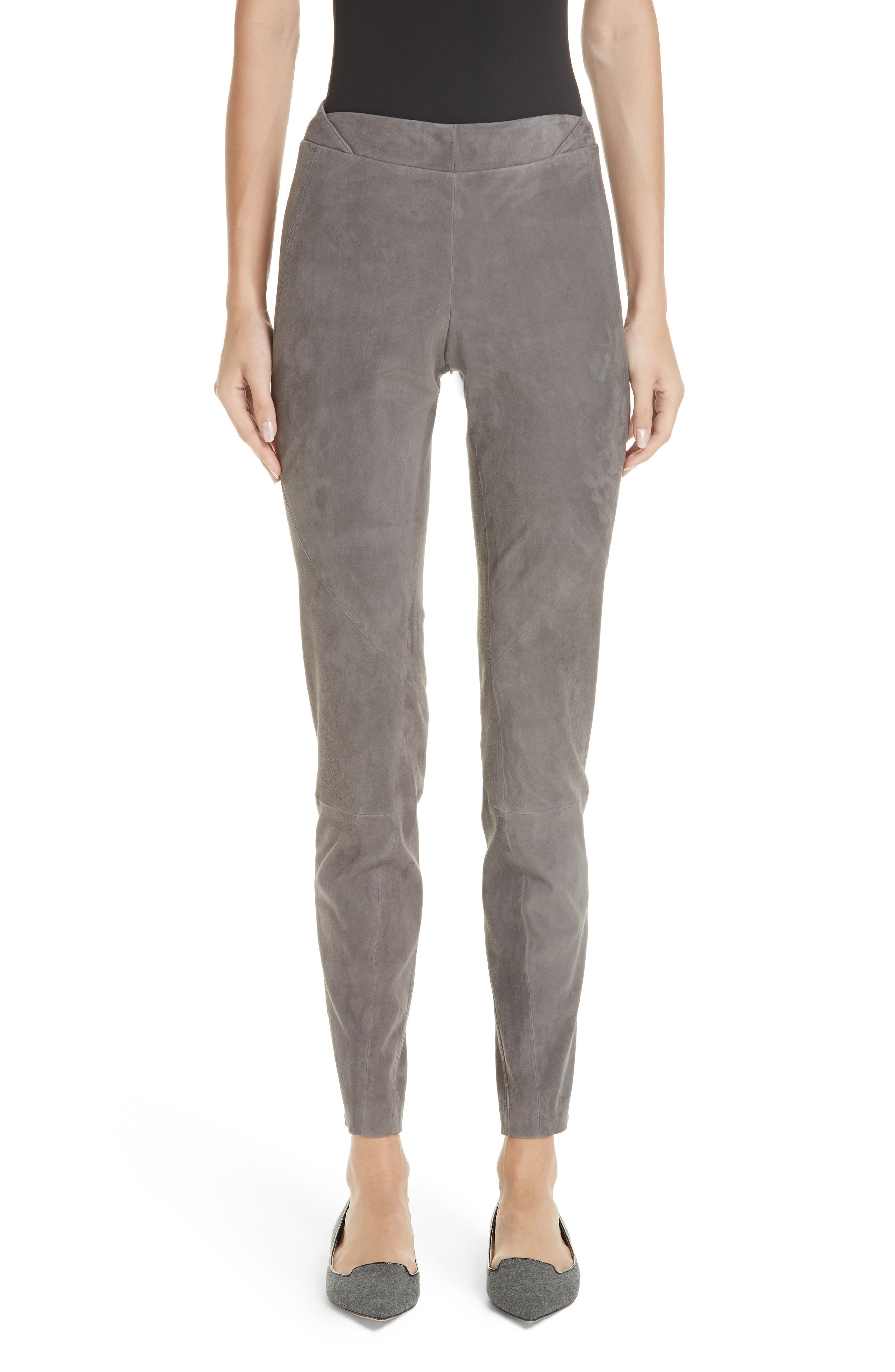 Brooklyn Suede Pants,                         Main,                         color, ROCK