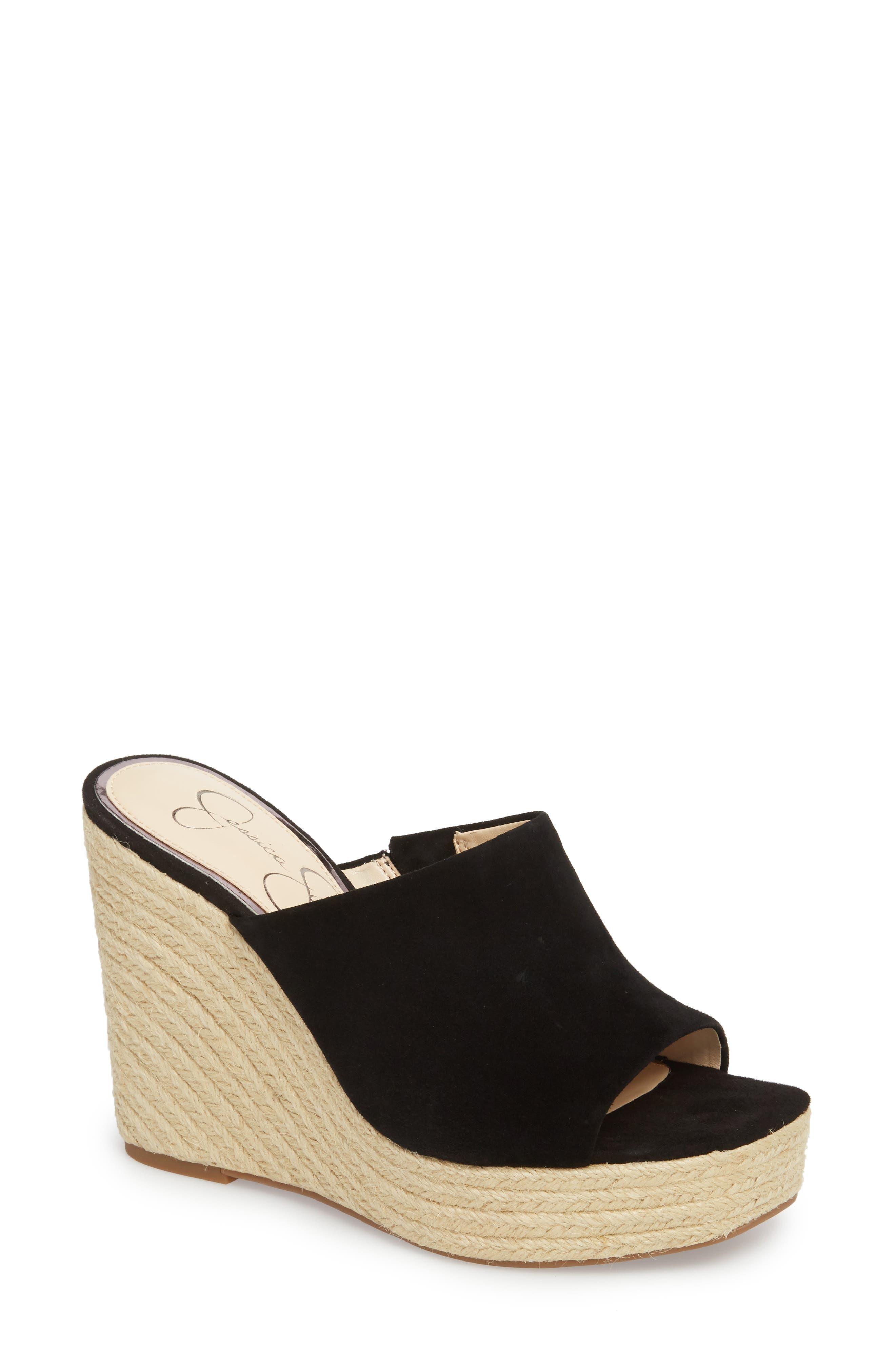 Sirella Platform Wedge Slide Sandal,                             Main thumbnail 1, color,
