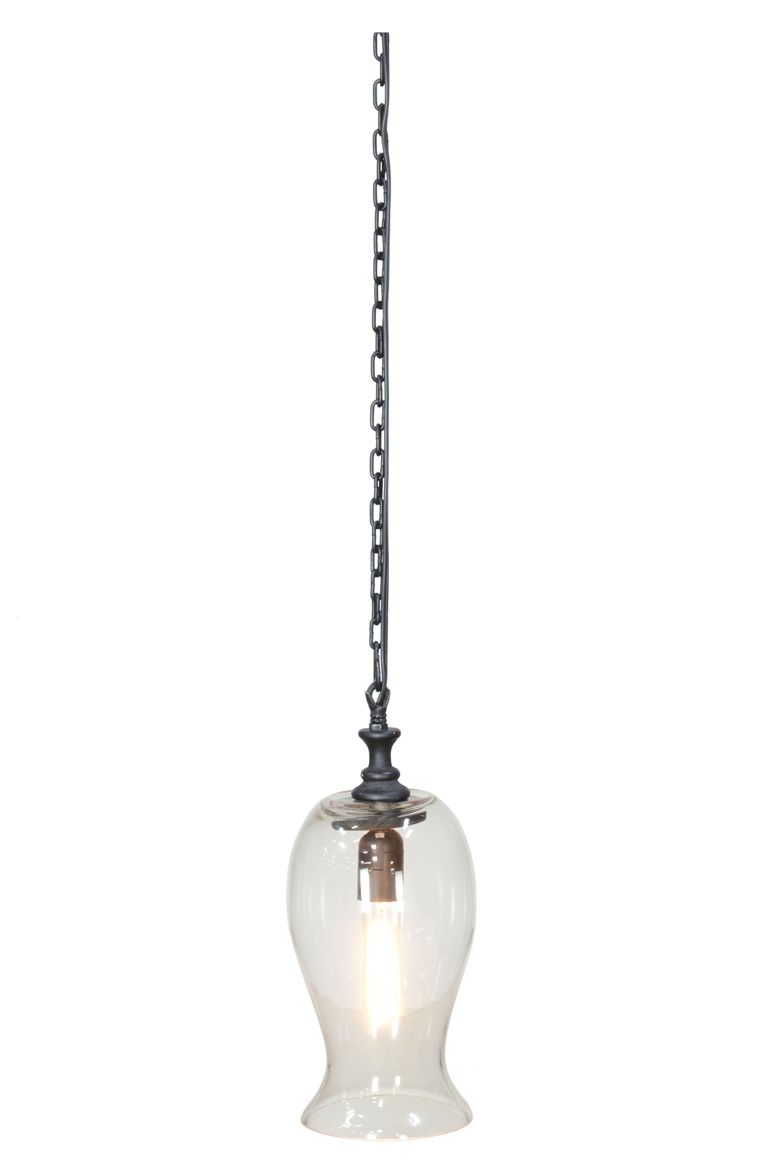 Santa Ana Glass Pendant Lamp,                             Main thumbnail 1, color,                             001