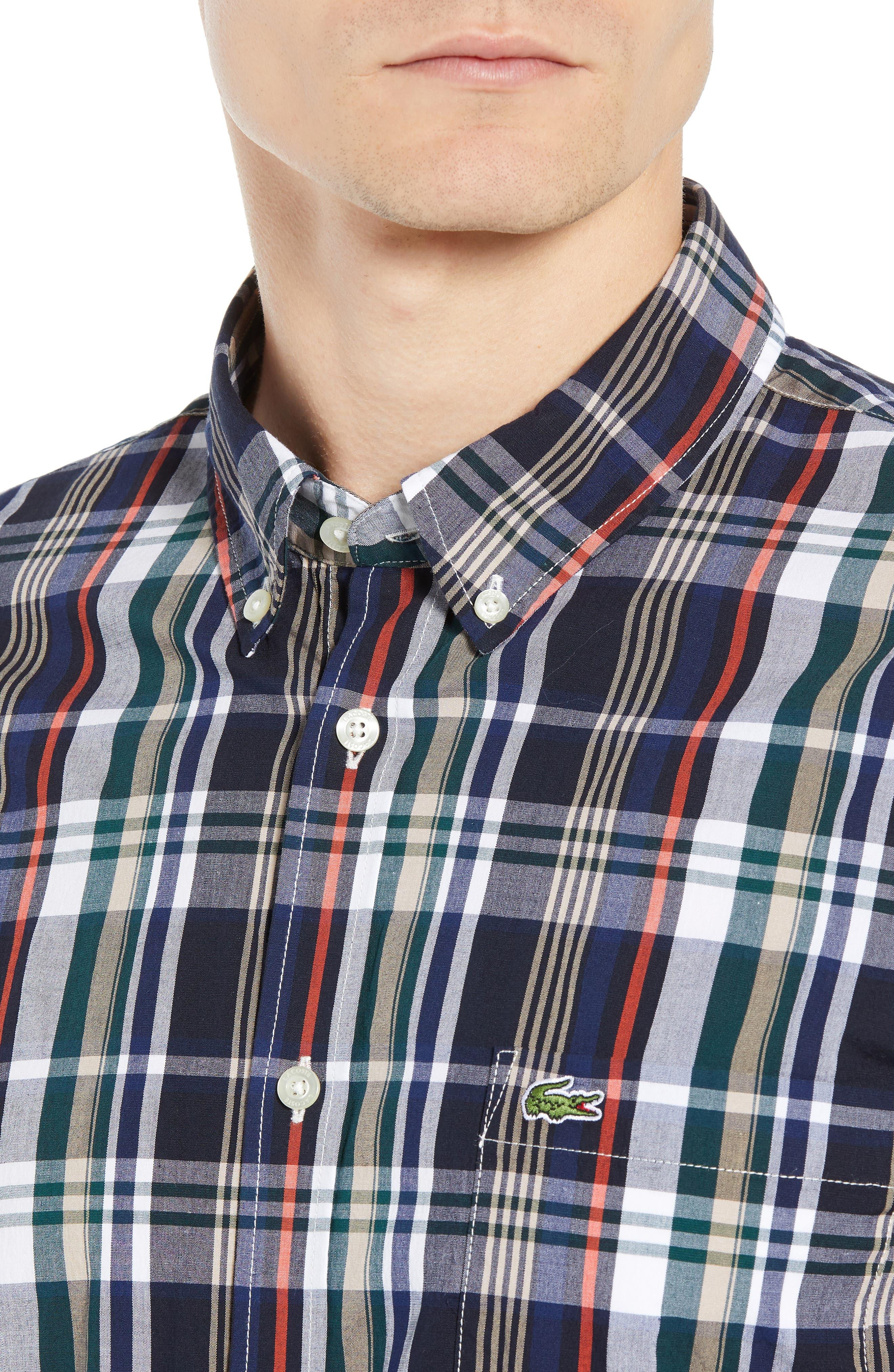 Slim Fit Plaid Sport Shirt,                             Alternate thumbnail 2, color,                             DY5 ACONIT/ MULTICO