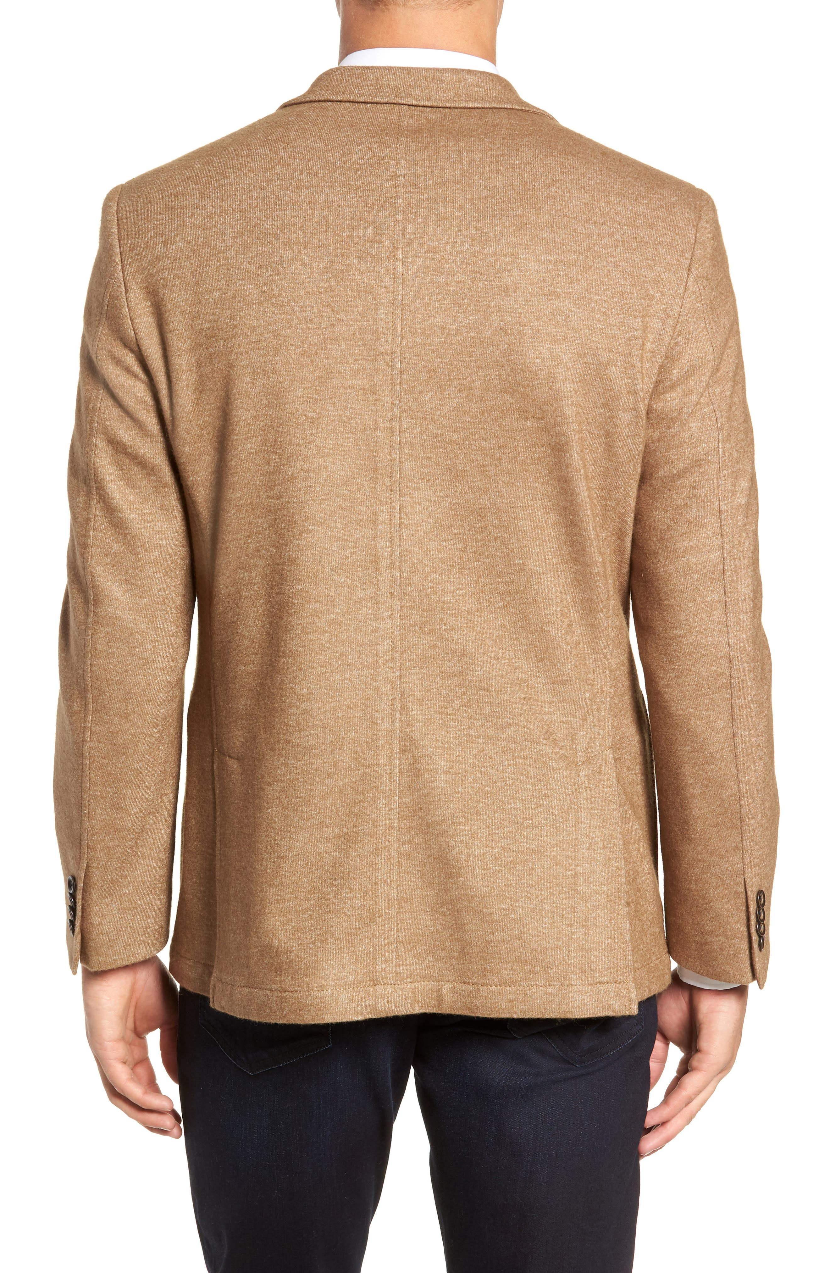 Regular Fit Knit Wool Blend Sport Coat,                             Alternate thumbnail 2, color,                             TAN