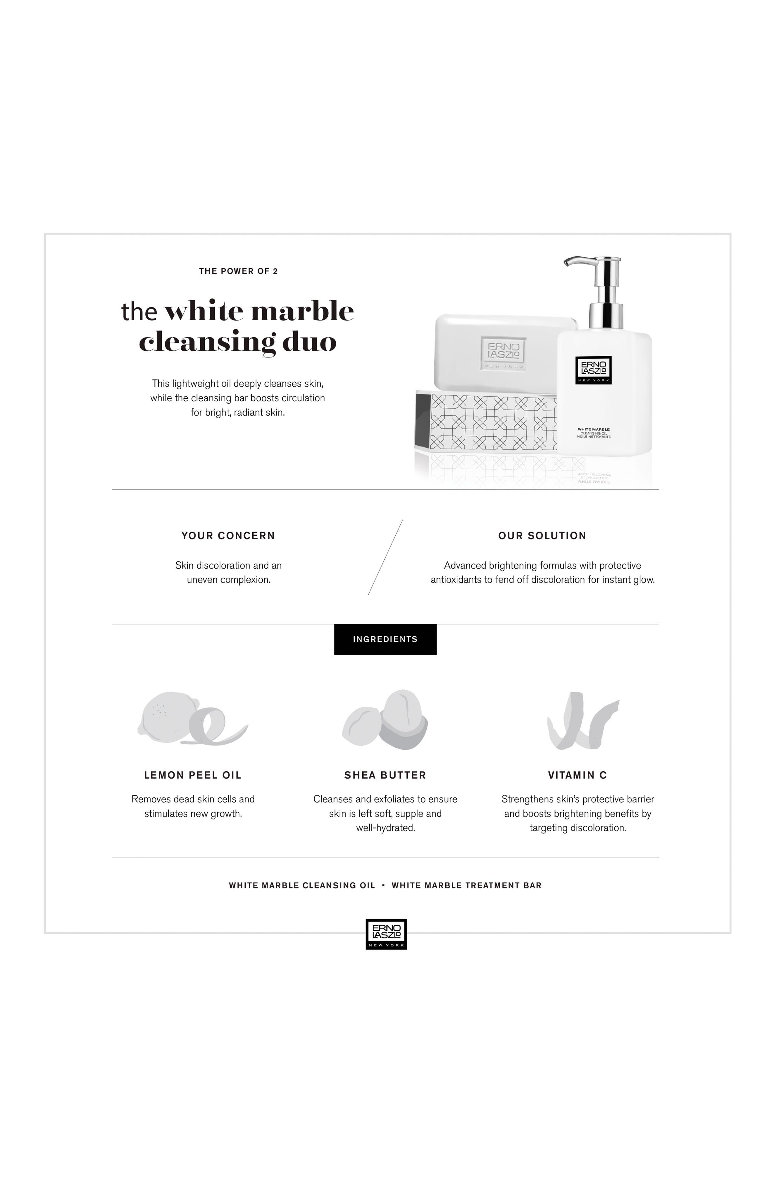 White Marble Double Cleanse Travel Set,                             Alternate thumbnail 3, color,                             NO COLOR