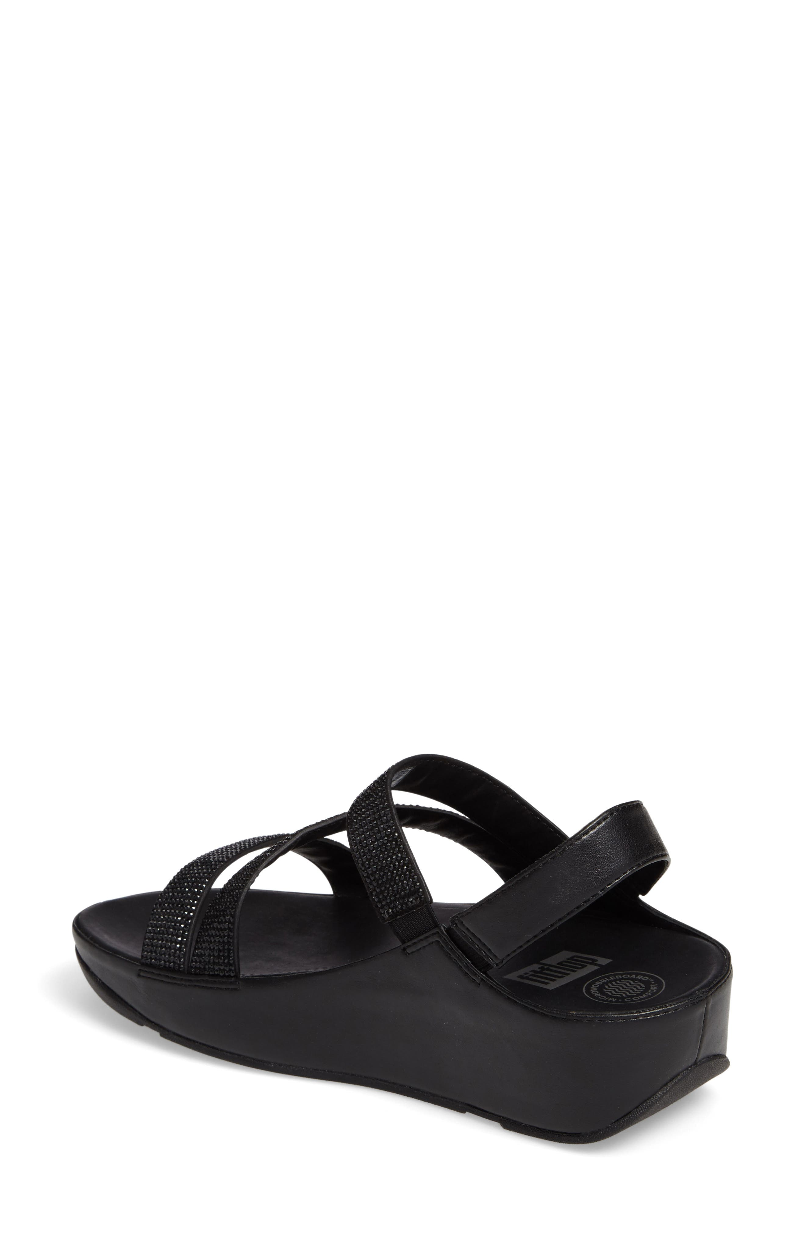 FITFLOP,                              Crystall Wedge Sandal,                             Alternate thumbnail 2, color,                             001
