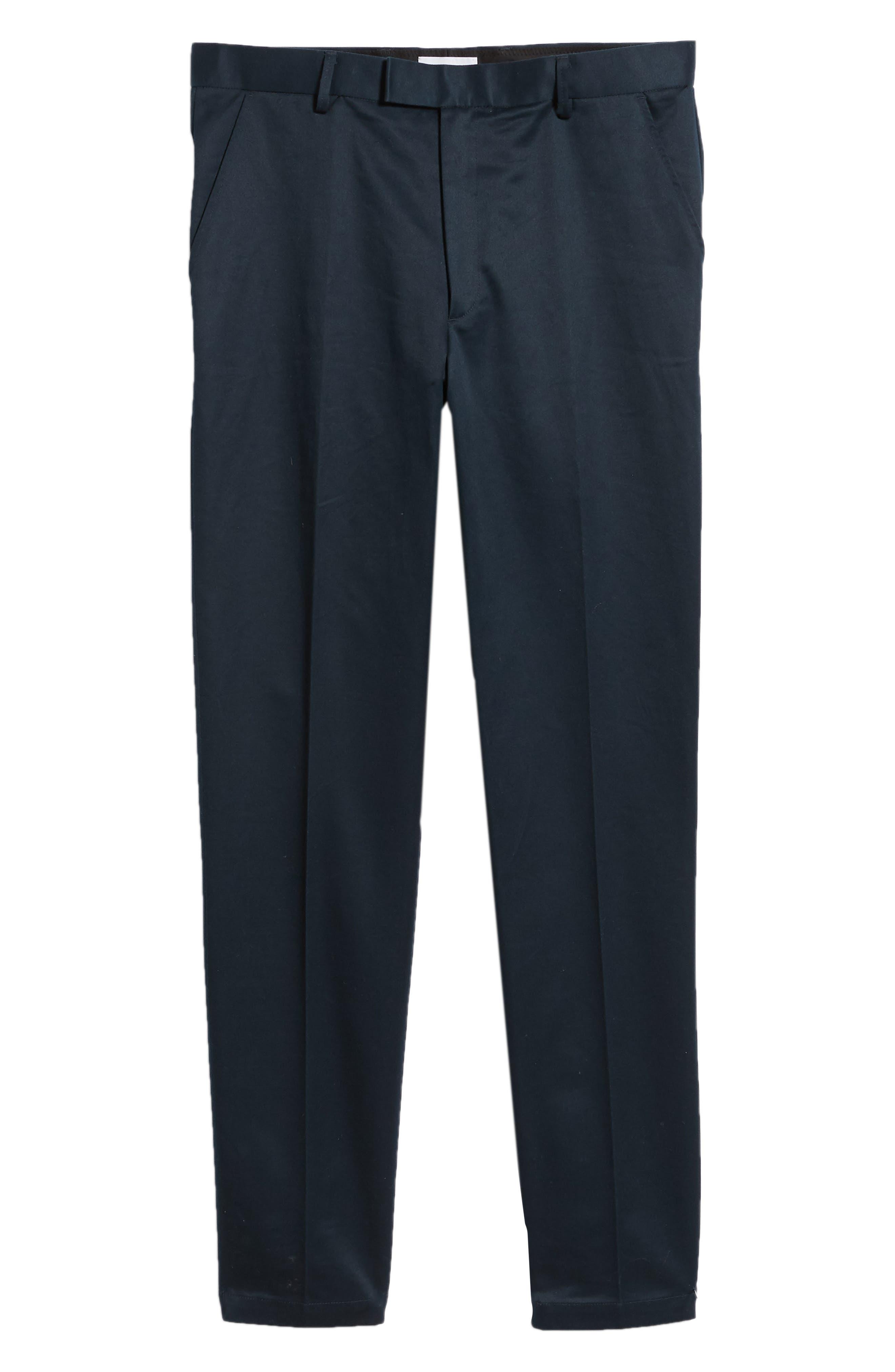 Leon Regular Fit Pants,                             Alternate thumbnail 6, color,                             MIDNIGHT