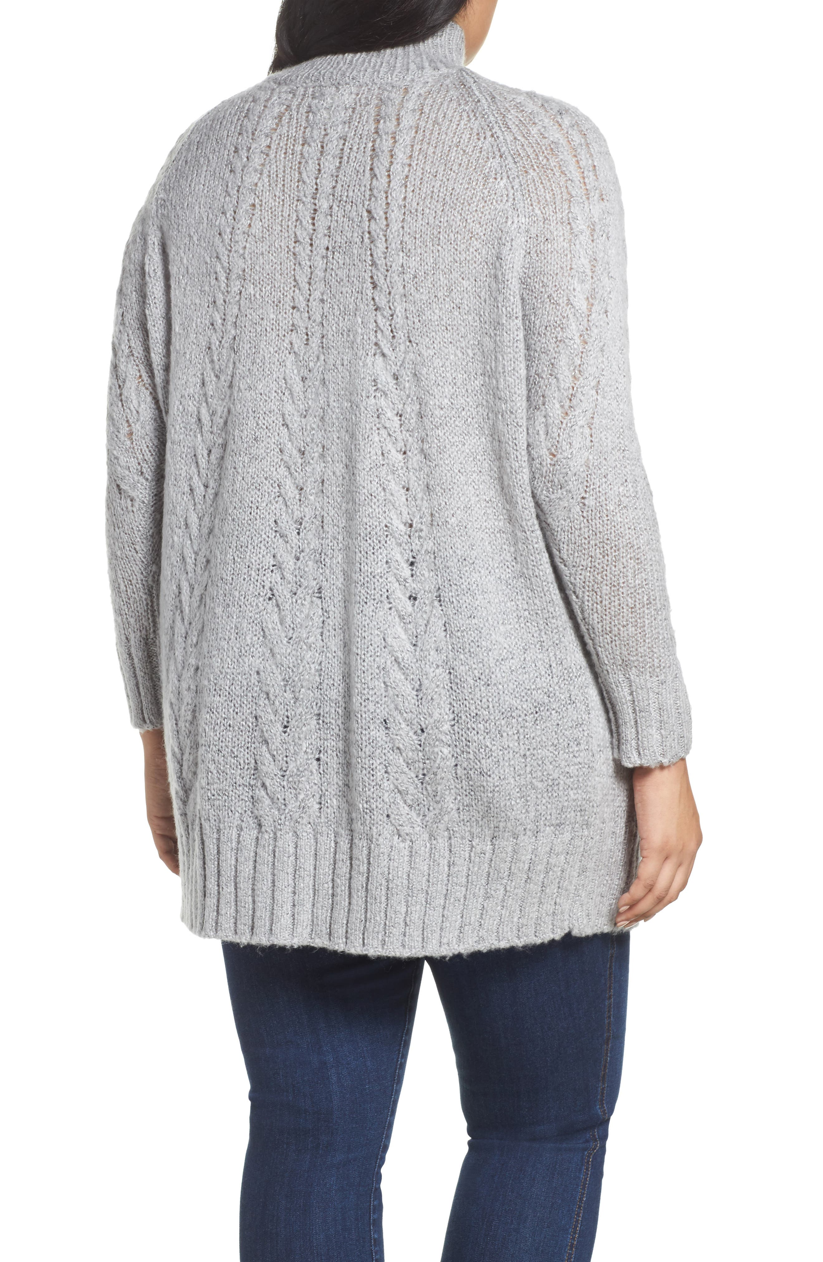 Cable Knit Tunic Sweater,                             Alternate thumbnail 2, color,                             030