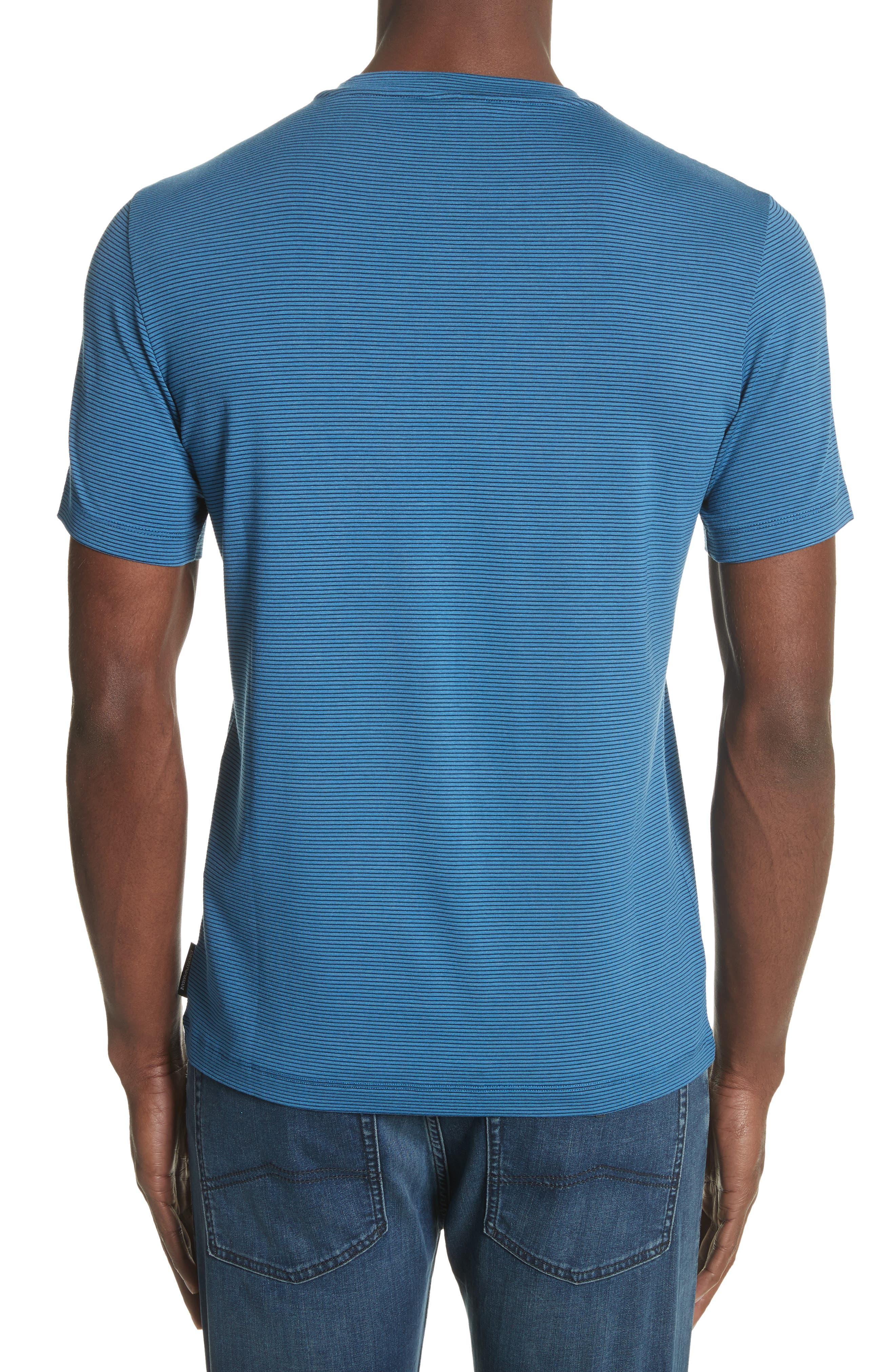 Slim Fit Stripe T-Shirt,                             Alternate thumbnail 3, color,