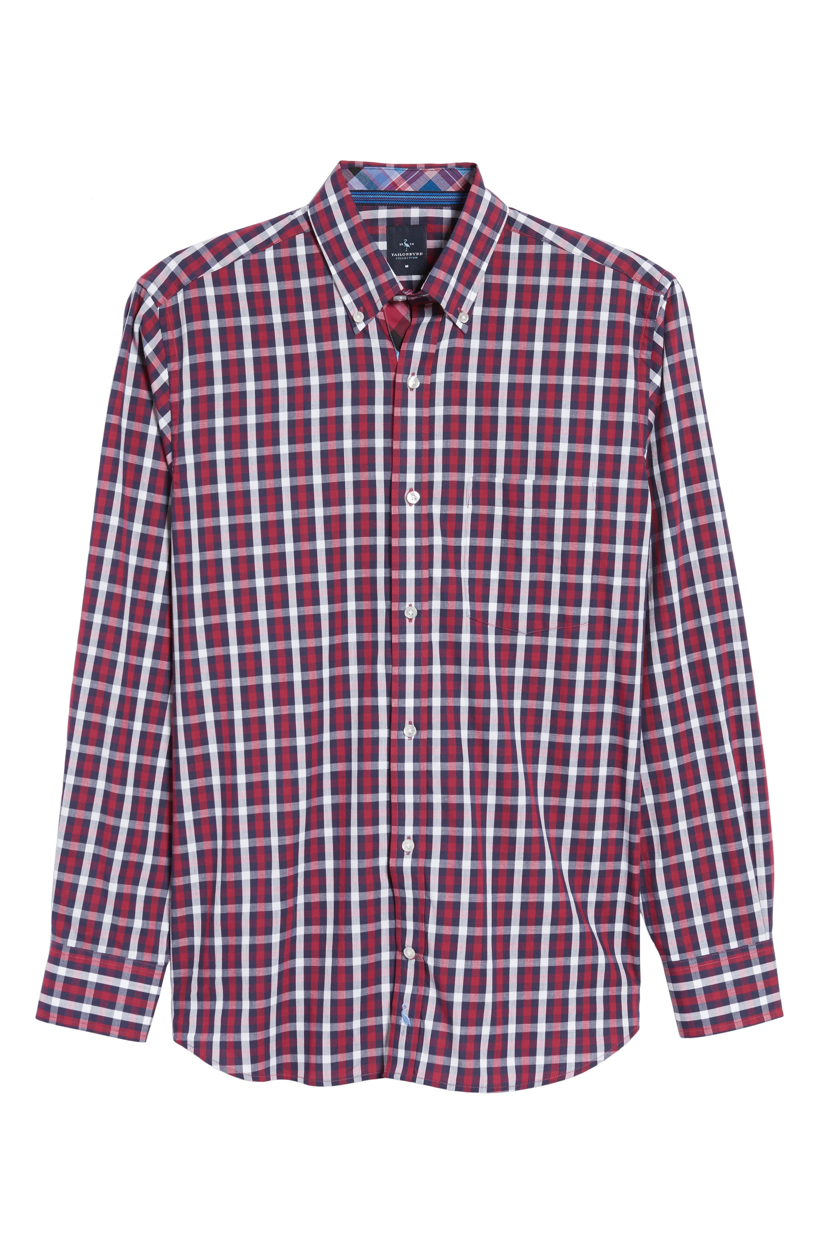 Covington Check Sport Shirt,                             Alternate thumbnail 6, color,                             617