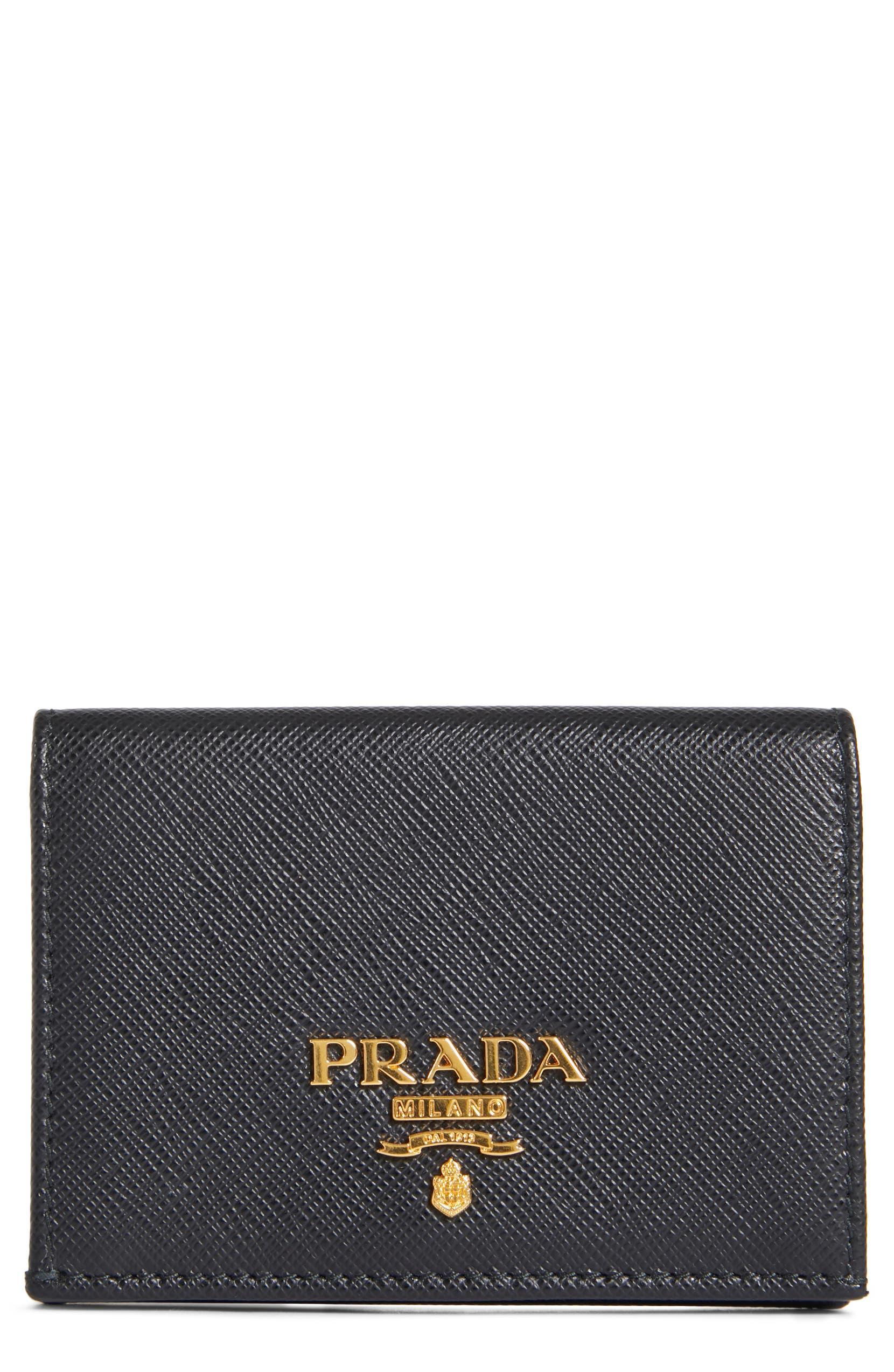 4c41ca519fb1 Prada Saffiano Leather French Wallet